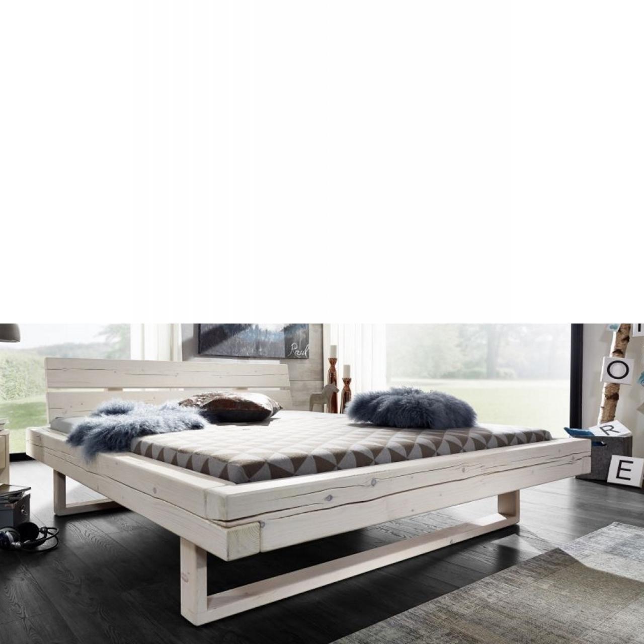 Massivholzbett weiß  Massivholzbett Weiß 140x200   Massivholzmöbel   Wohnen   Möbel ...