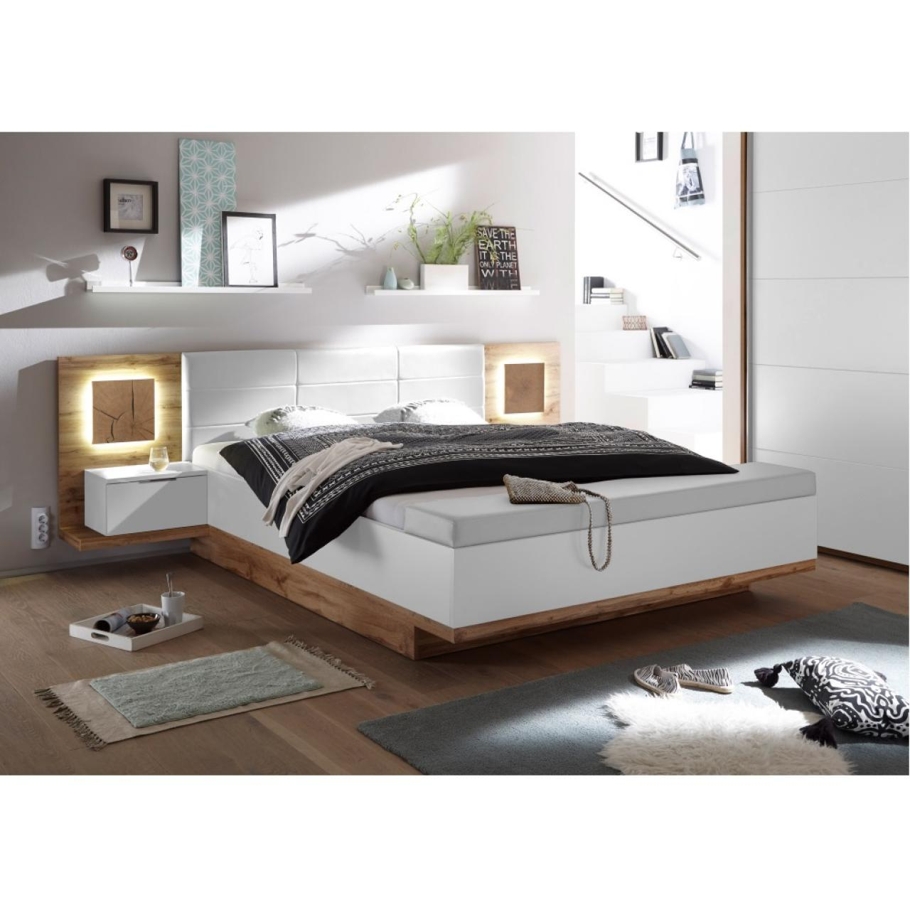 Bett Capri mit Nachtkommode und Bank/Truhe