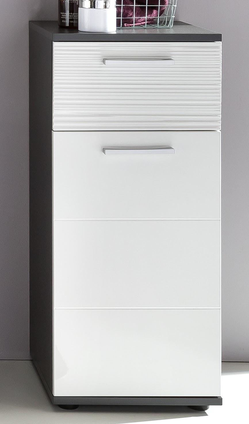 Badezimmerschrank Smart Weiss Grau Schrank Standschrank