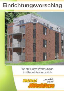 Einrichtungsvorschlag für exklusive Wohnungen in Stade/Heisterbusch
