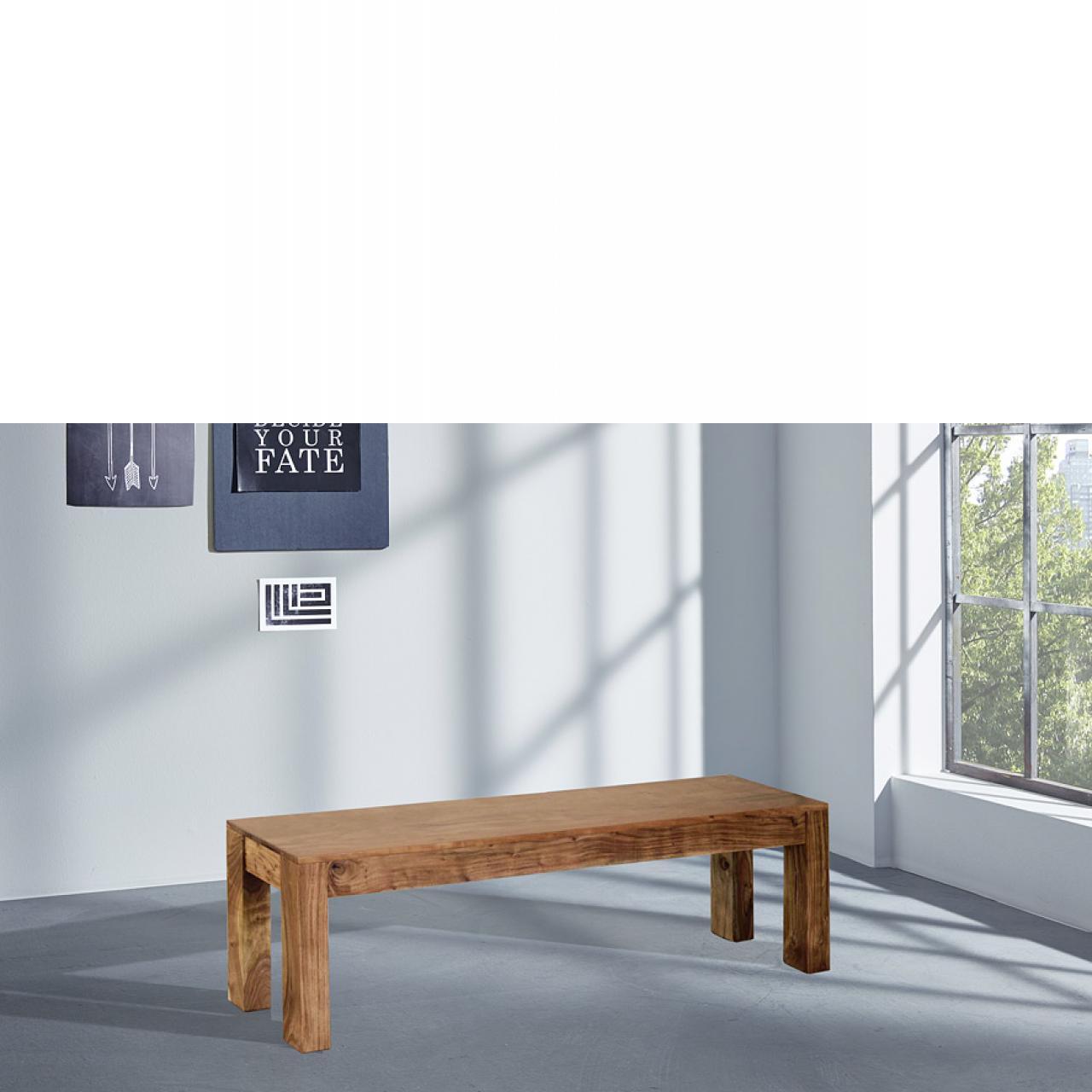 Sitzbank Vision 2826 Akazie Massiv Acana Wolf Möbel 178 cm breit