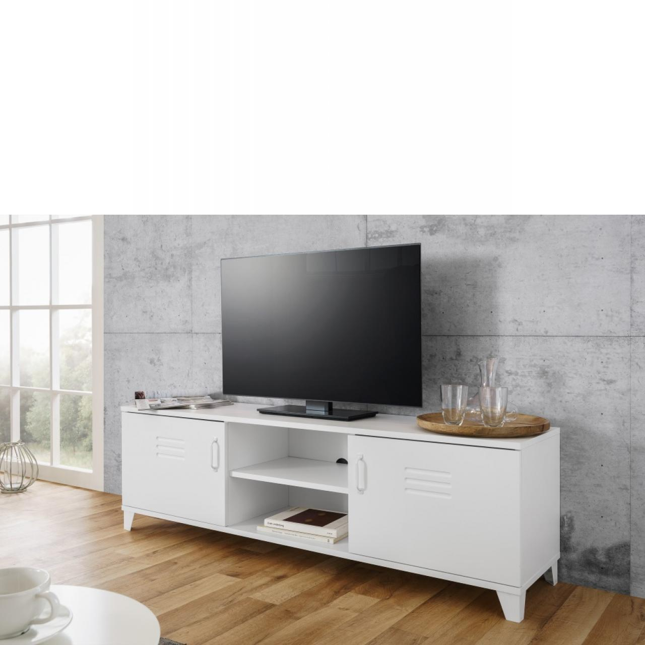 TV-Lowboard - Factory - weiß