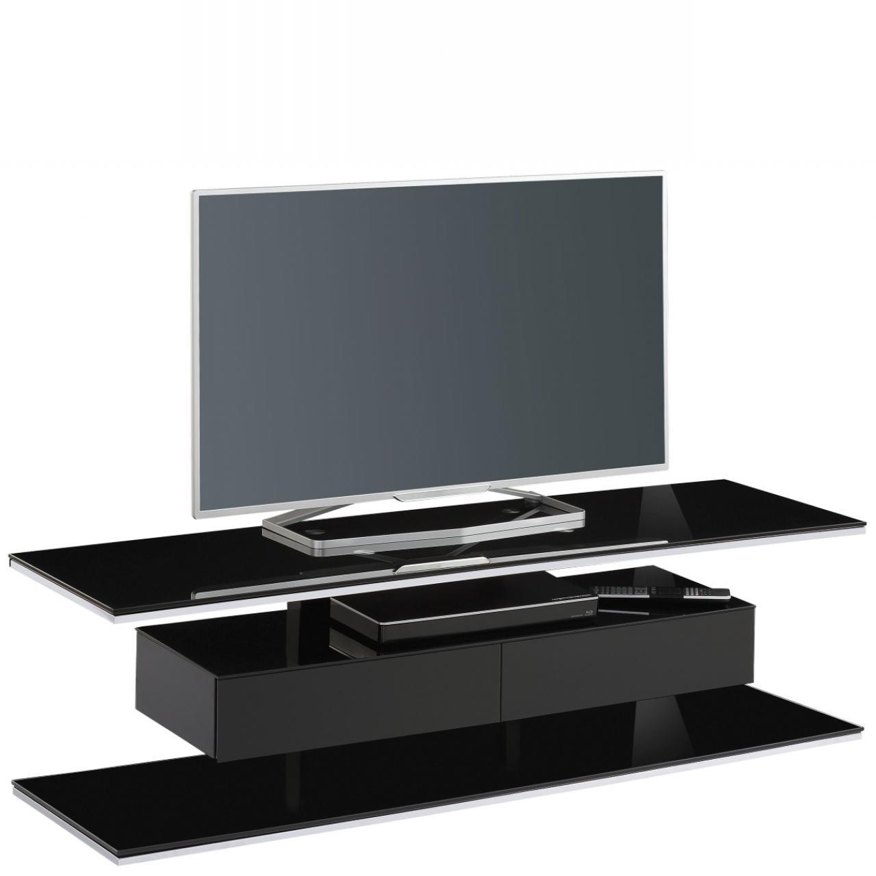 TV-Rack 7728 schwarzglas