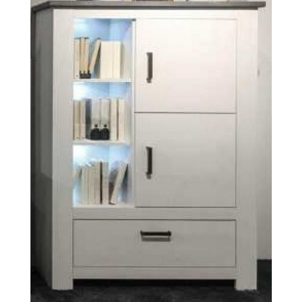 tv lowboard aus paulowniaholz landhausstil wei m bel j hnichen gmbh. Black Bedroom Furniture Sets. Home Design Ideas