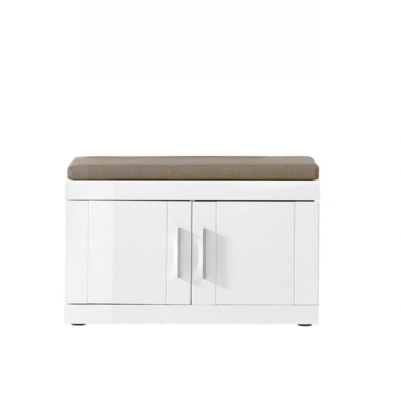 Garderobenbank Juno - Weiß