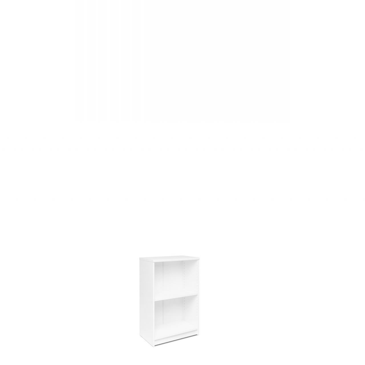 Regal Kiel 24 Weiß 2 Fächer Standregal Aufbewahrung Box 2 Einlegeböden
