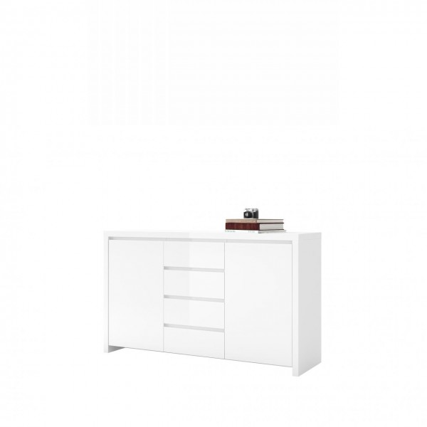 Sideboard Lario Kommode Anrichte Wohnzimmerschrank Weiß Hochglanz 164 cm