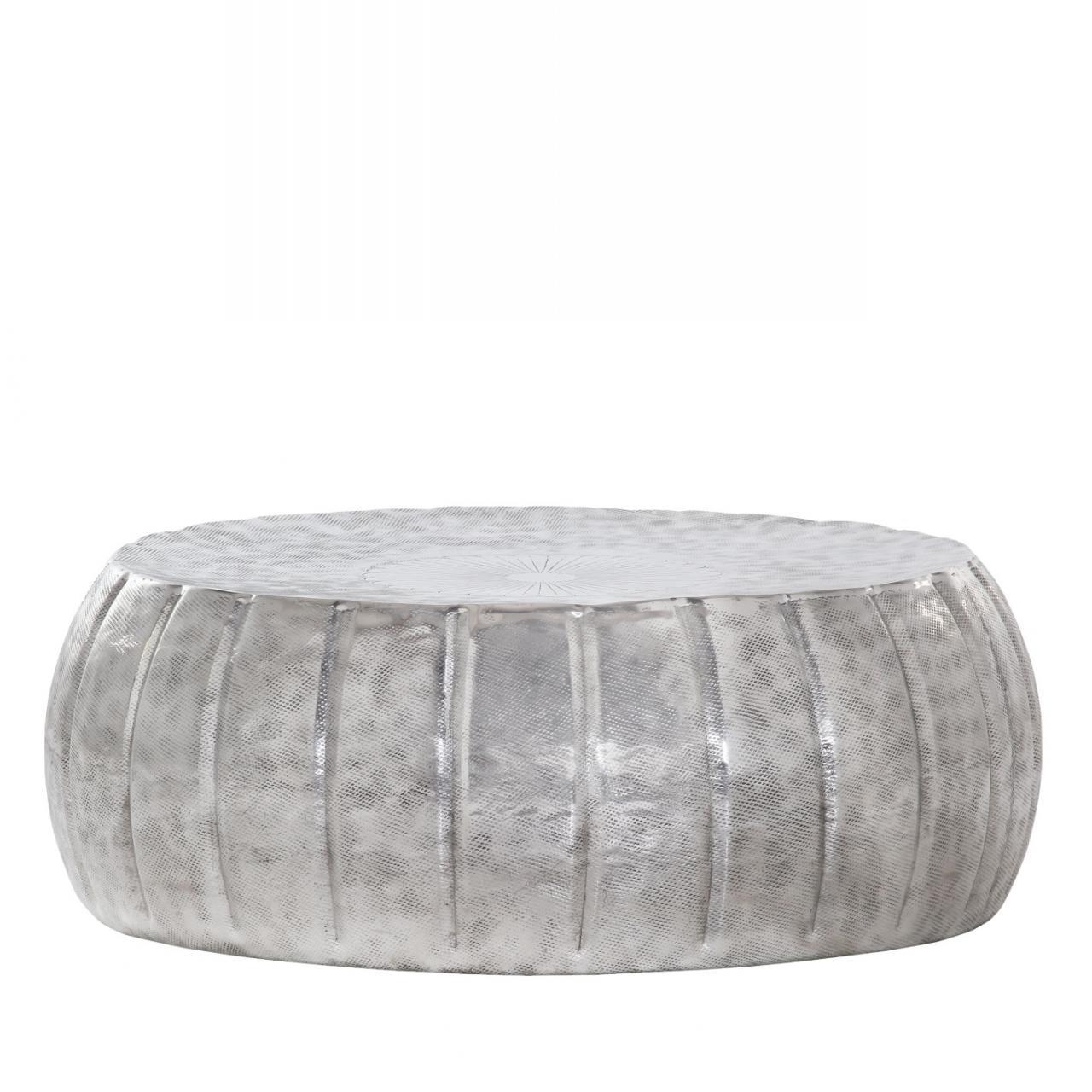 Couchtisch Mix&Match Stubentisch Beistelltisch Rund Alufarben Aluminium Rund