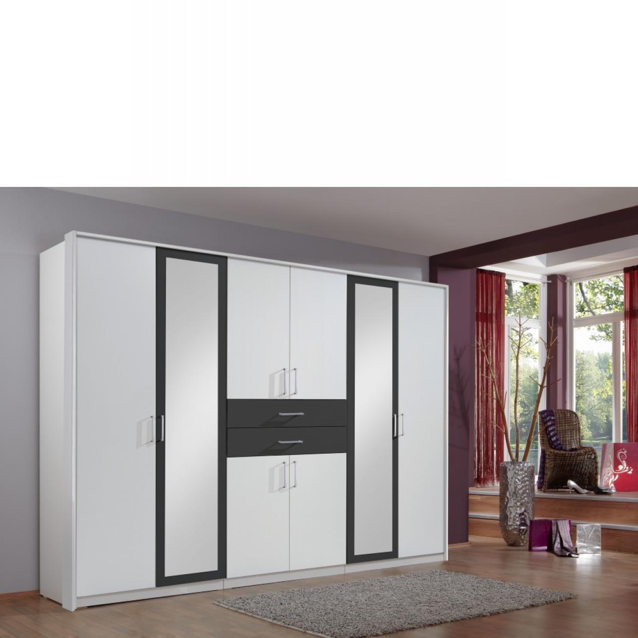 schwebet renschrank bern wei mit spiegel. Black Bedroom Furniture Sets. Home Design Ideas