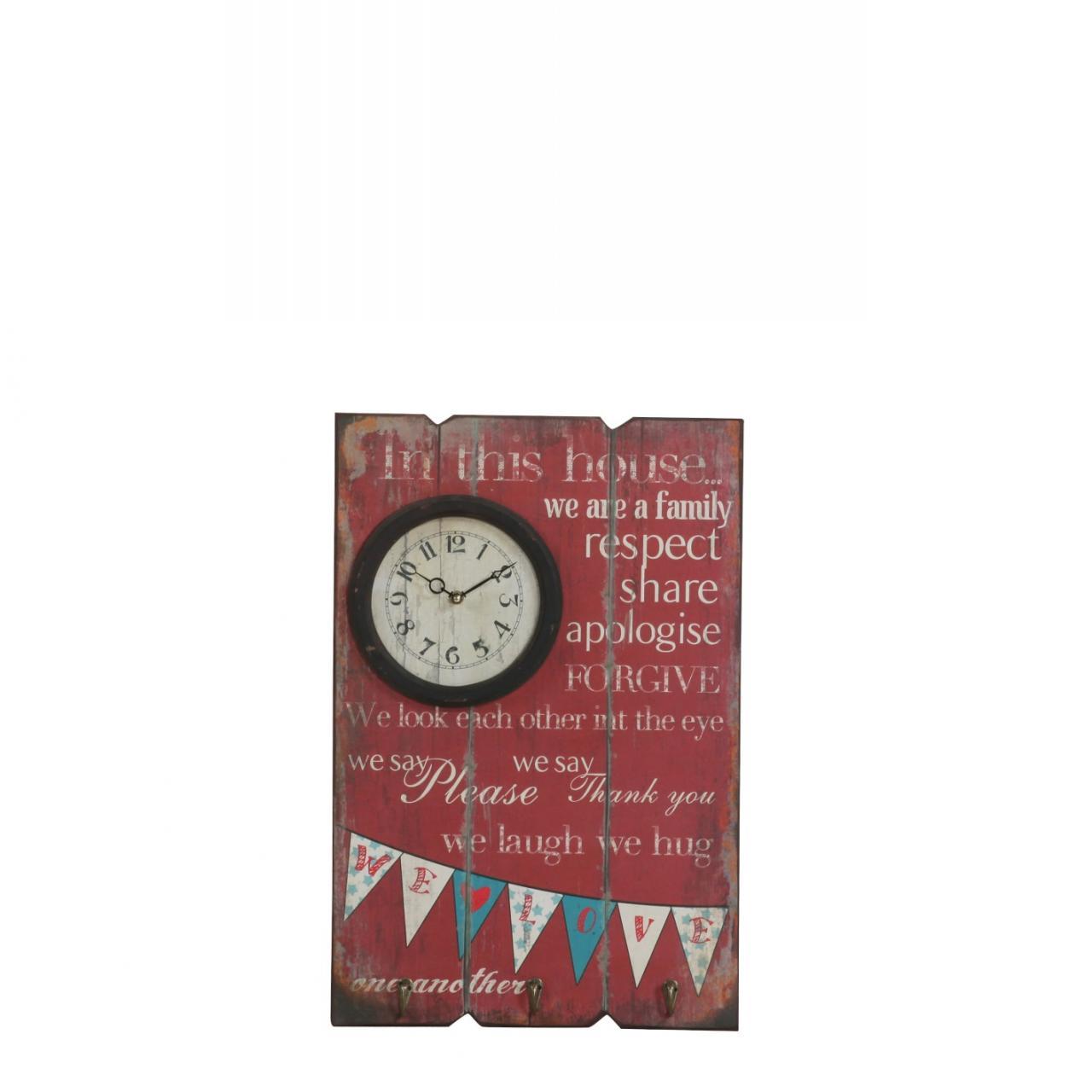 Wandschild Boardy - Rot MDF