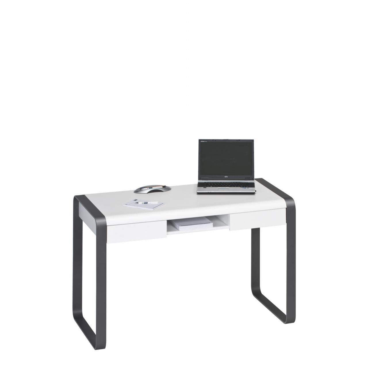 Schreib- und Computertisch in weiß