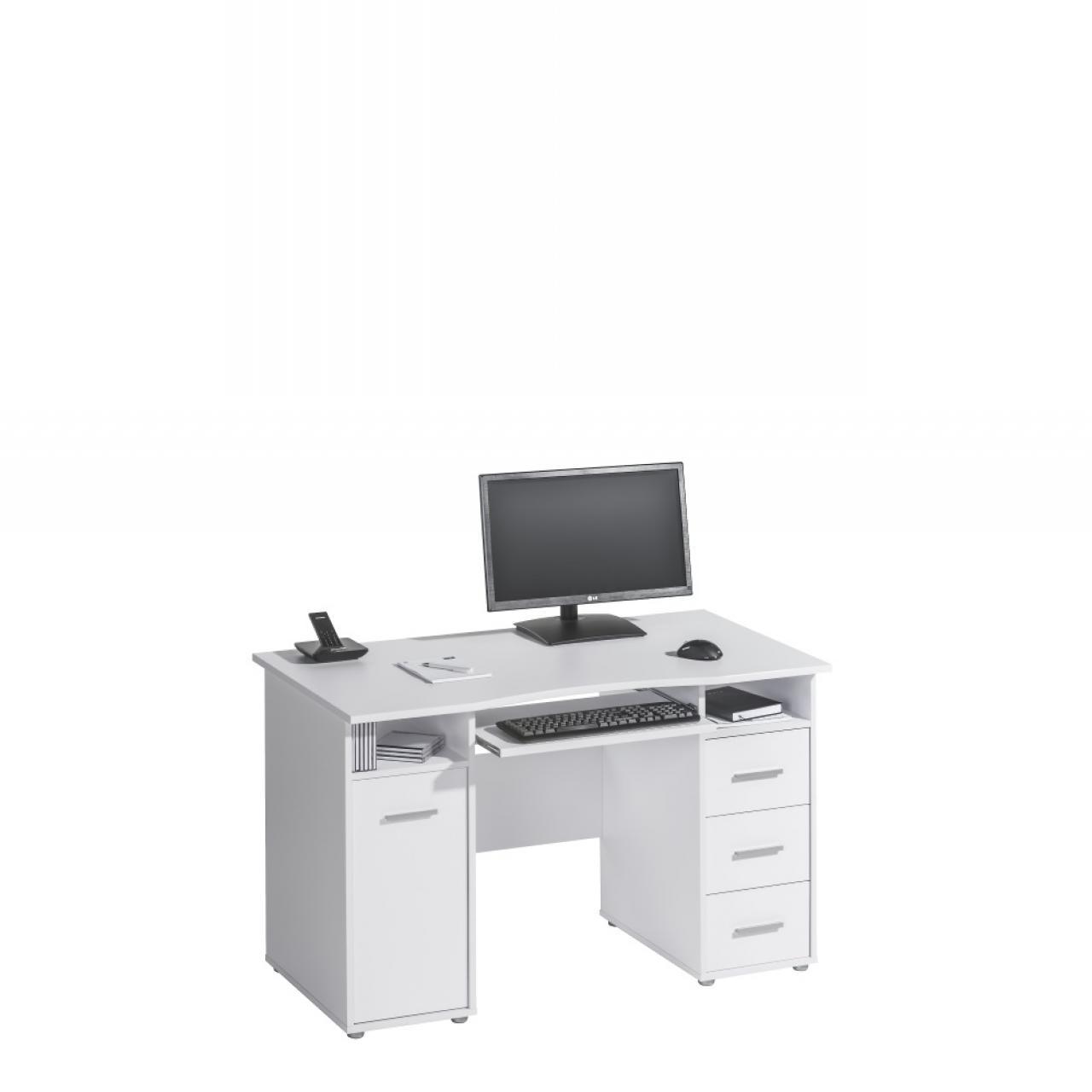 Schreib- und Computertisch in Icy-weiß