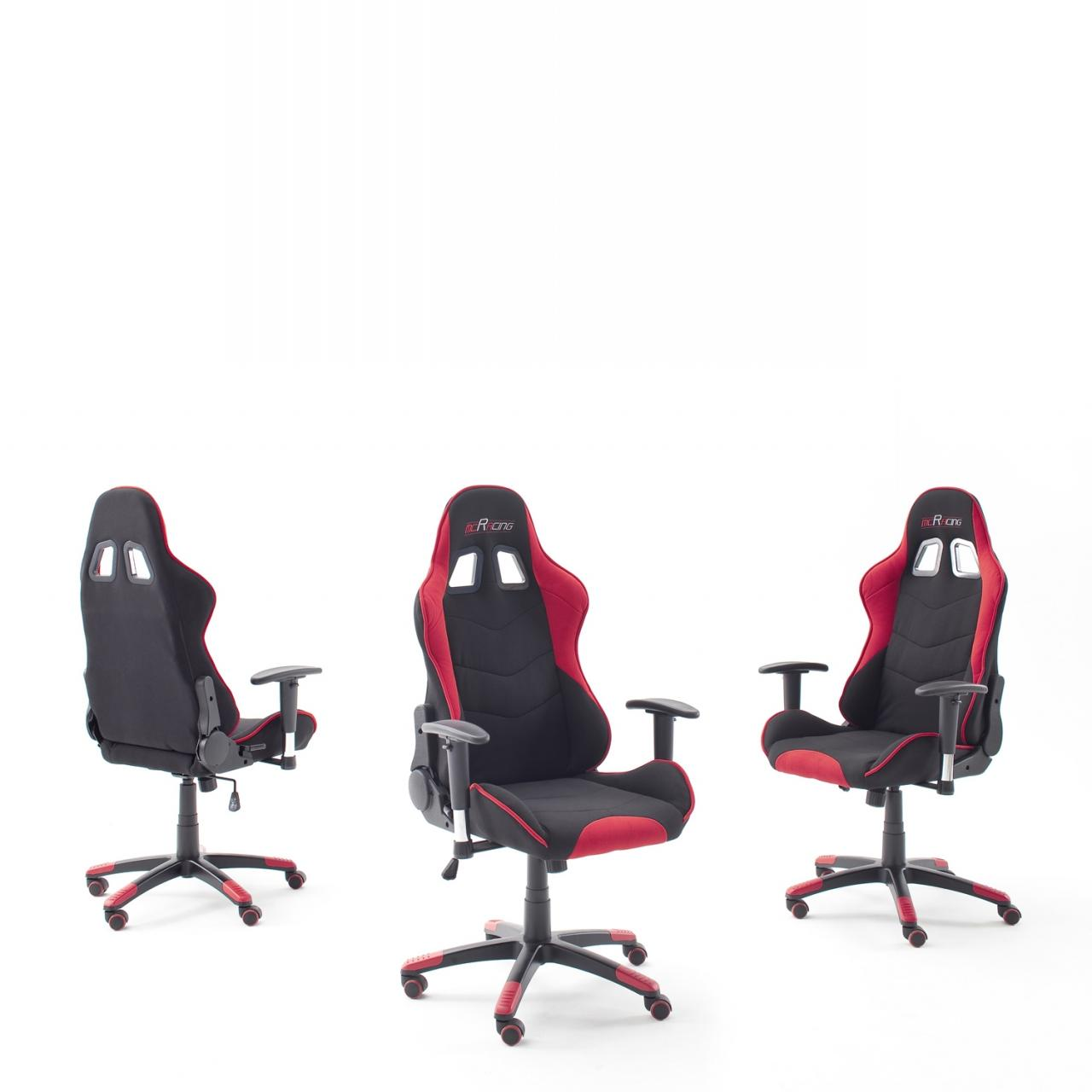 Chefsessel mcRacing Schwarz Rot Gaming Stuhl