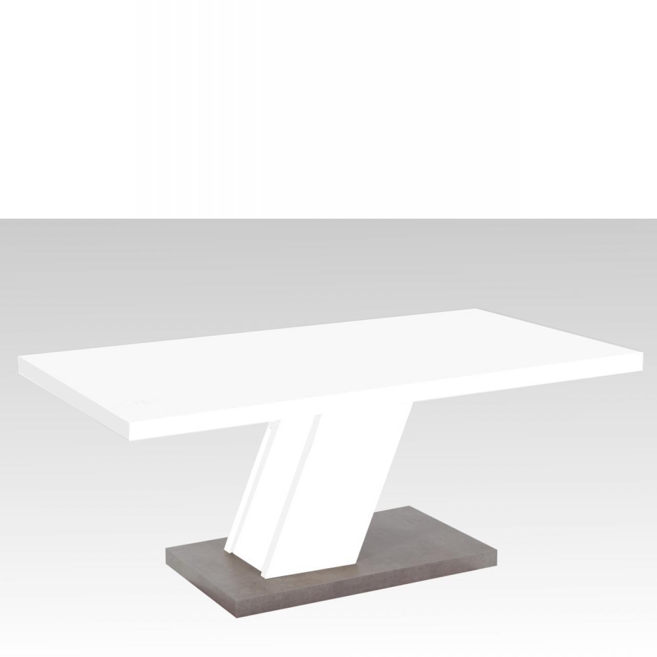 Couchtisch Innsbruck 3 weiß Betonoptik Wohnzimmertisch Stubentisch Tisch