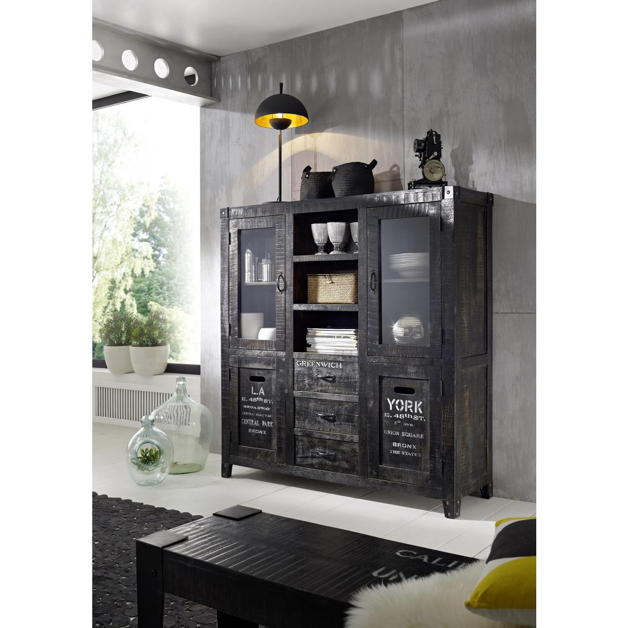 Highboard - The States - Ash Grey