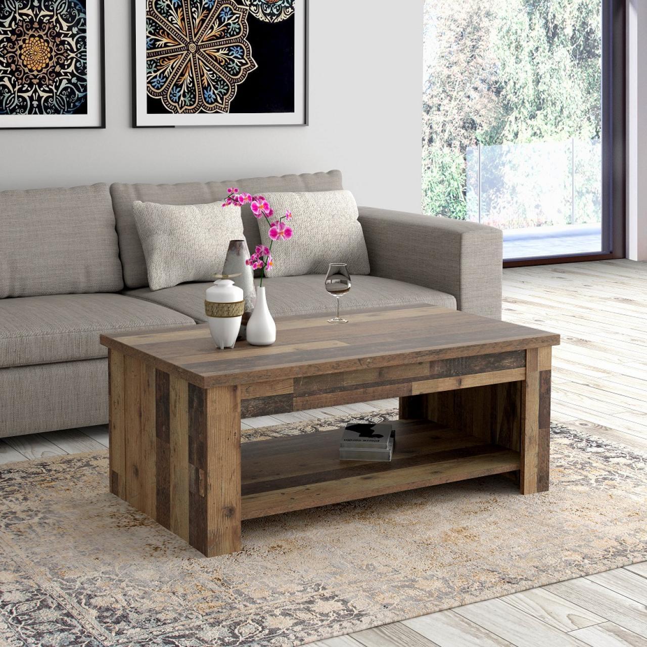 Couchtisch Duro Mit Funktion Old-Wood Vintage Stubentisch Beistelltisch Tisch