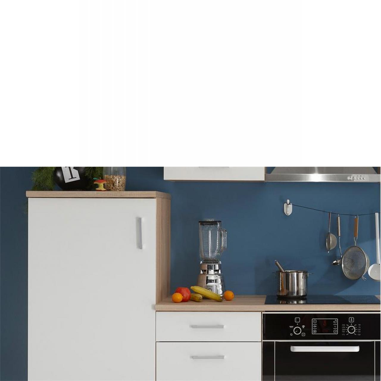 Küchenzeile Andy in Sonoma Eiche-Weiß