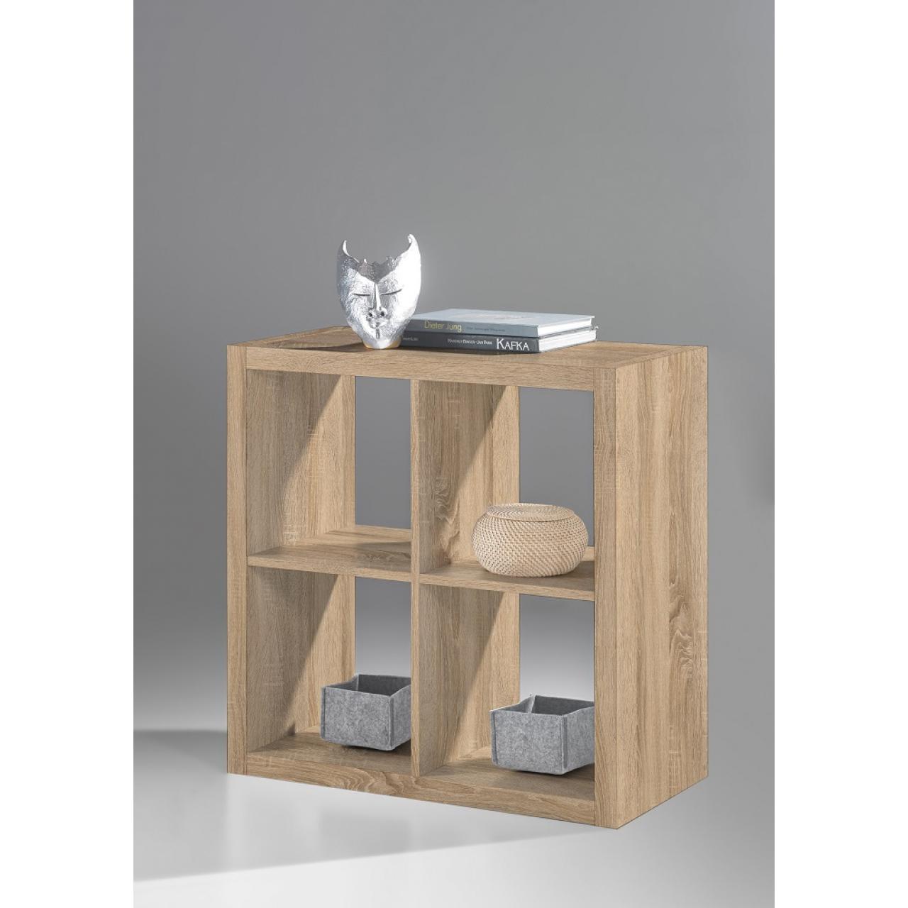 Raumteiler Style 132 Sonoma Eiche 4 Fächer Regal Standregal Wohnzimmer Flur