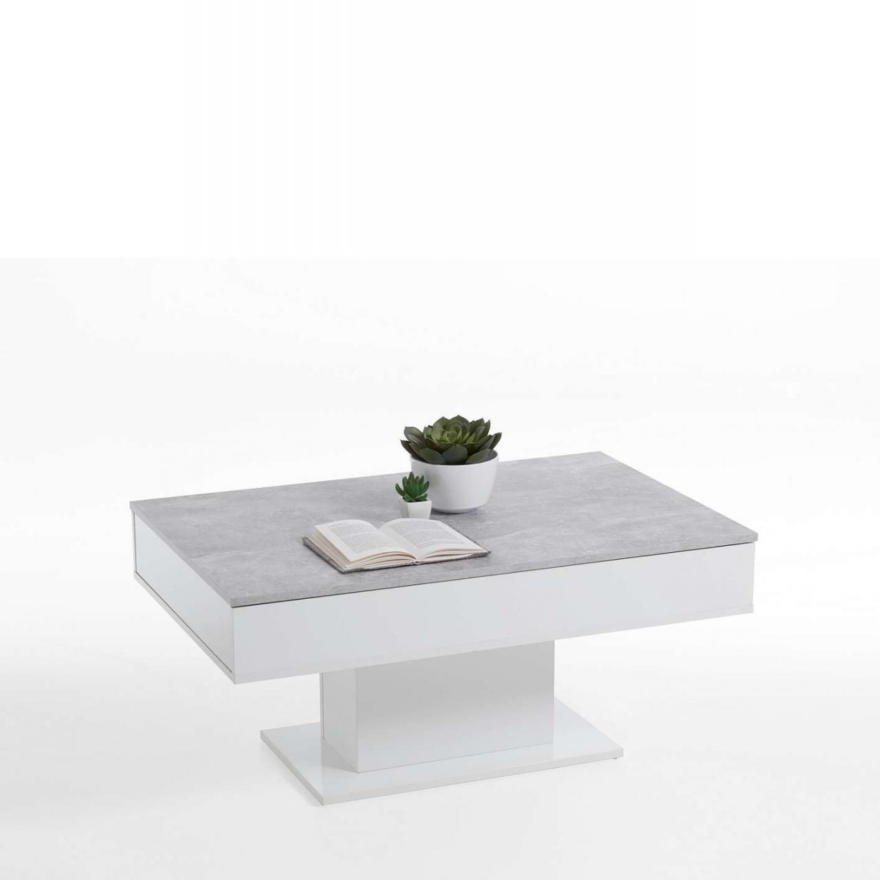Couchtisch Avola 2 - Beton/Weiss