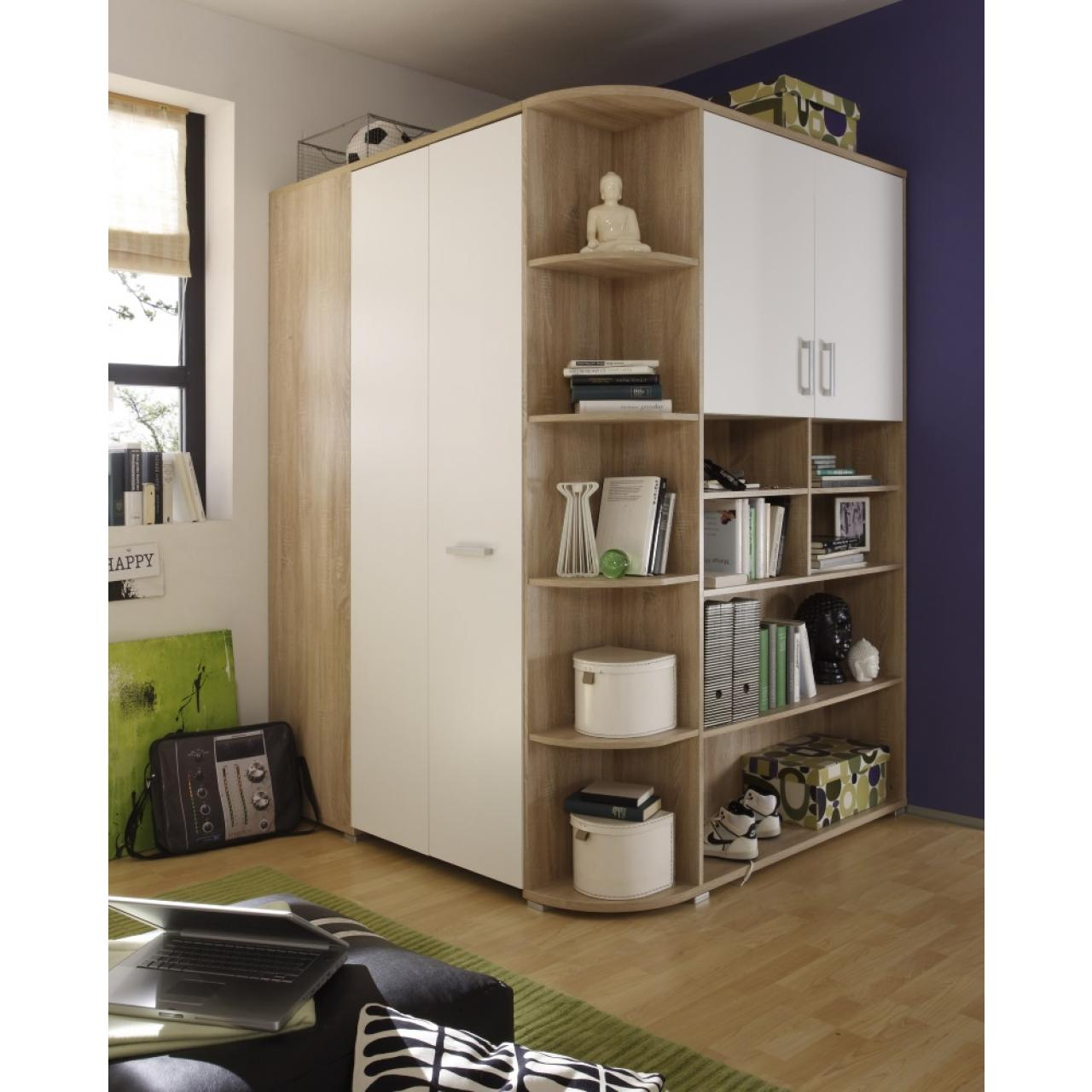 kleiderschrank victor 2 wei beton schwebet ren. Black Bedroom Furniture Sets. Home Design Ideas