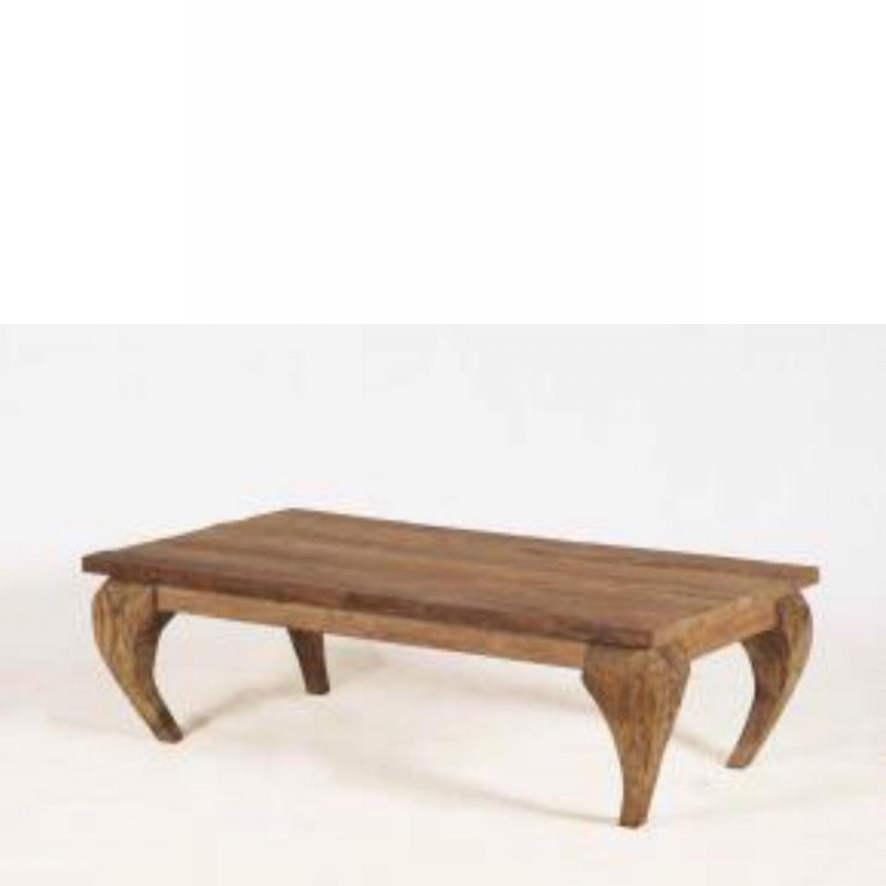 Couchtisch Bali, 130x70 cm, Teakholz, Driftwood, Wohnzimmertisch, Stubentisch