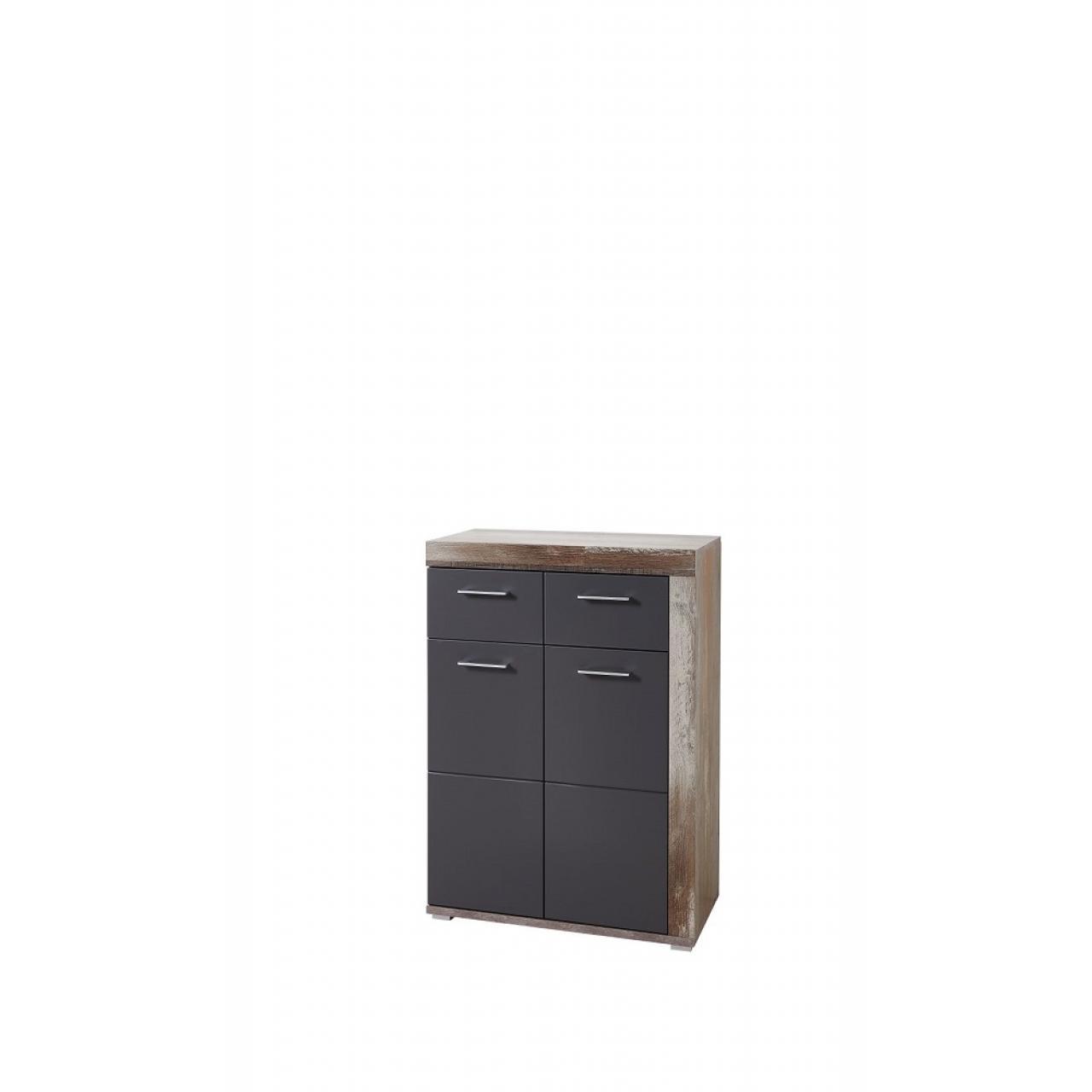 Schuhschrank Crown-X 1Schubkasten 2 Türen Flur Diele Garderobe Driftwood Nb.