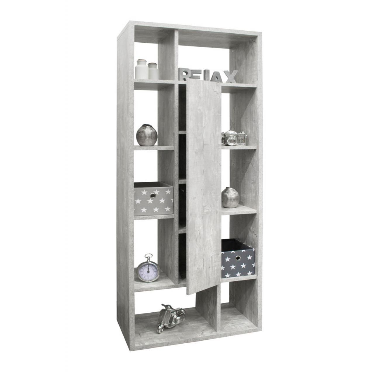 Raumteiler Mix 6 Fächer in Beton