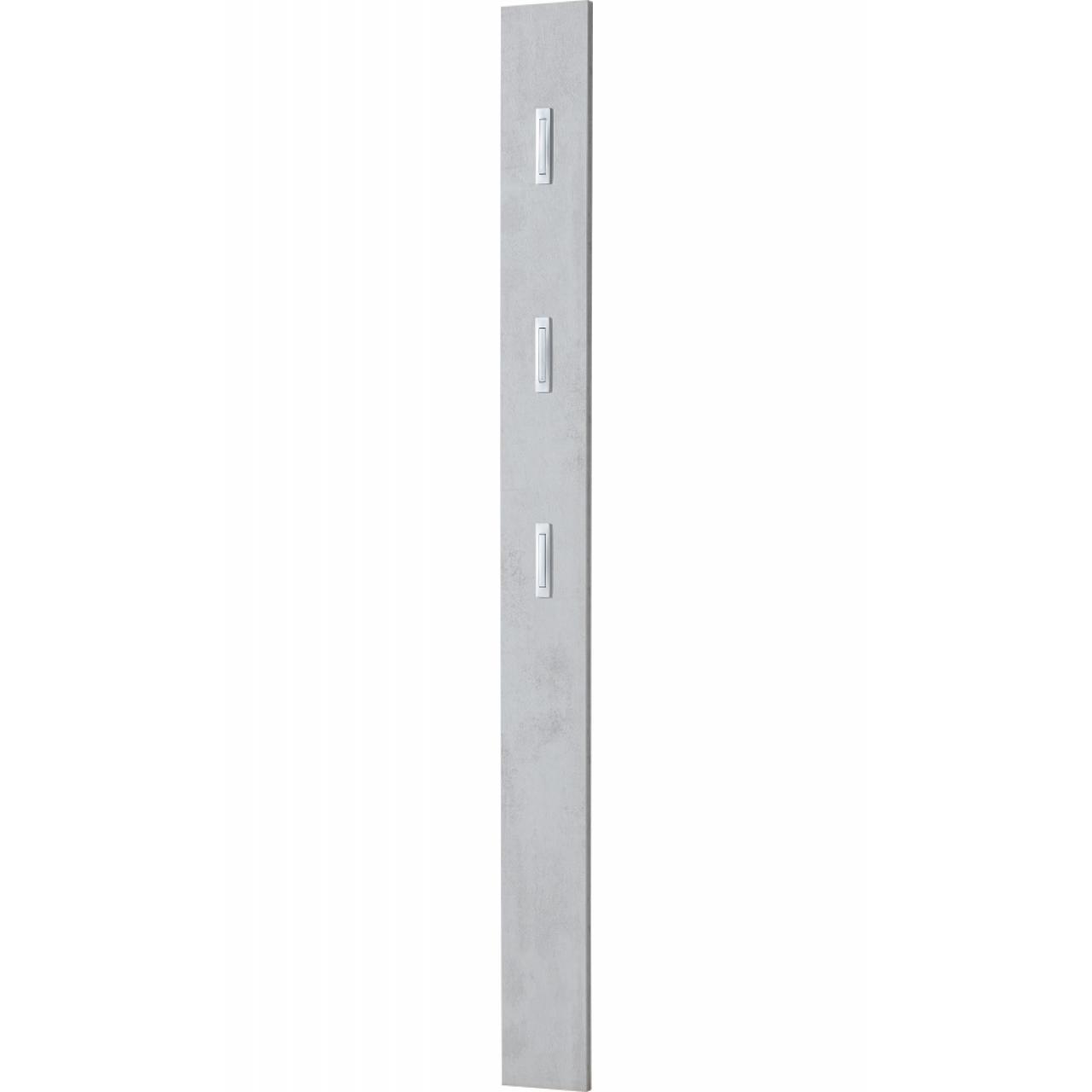 Garderobenpaneel - Beton Optik - 3 Kleiderhaken