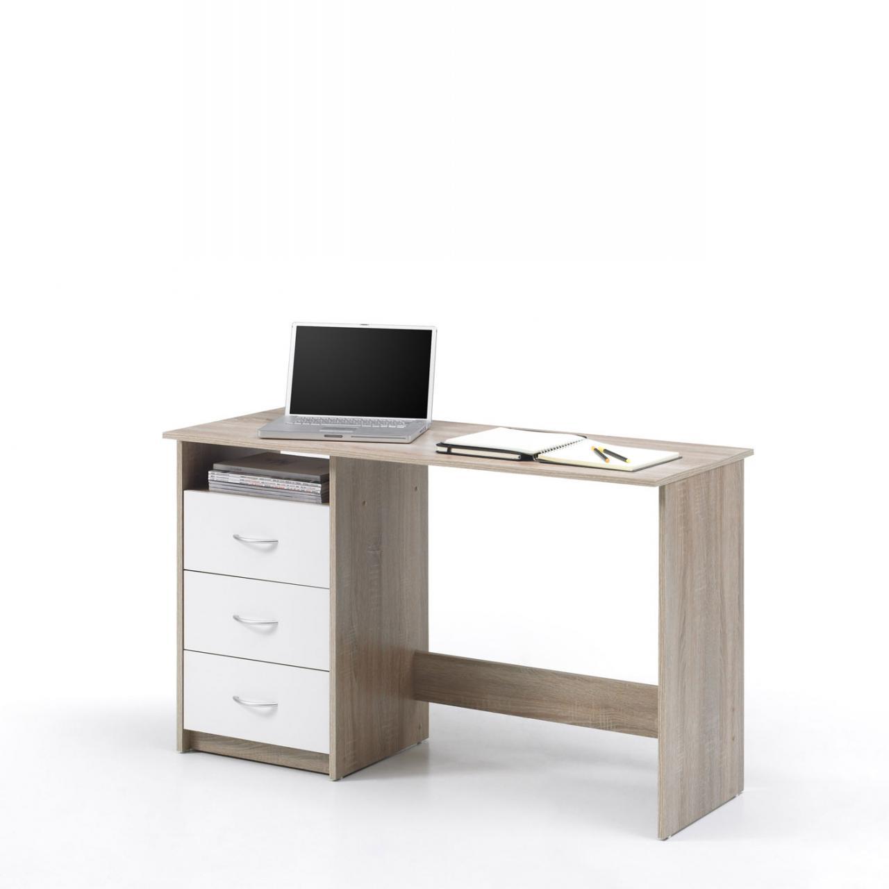 Schreibtisch Adria in Eiche Sonoma/weiß