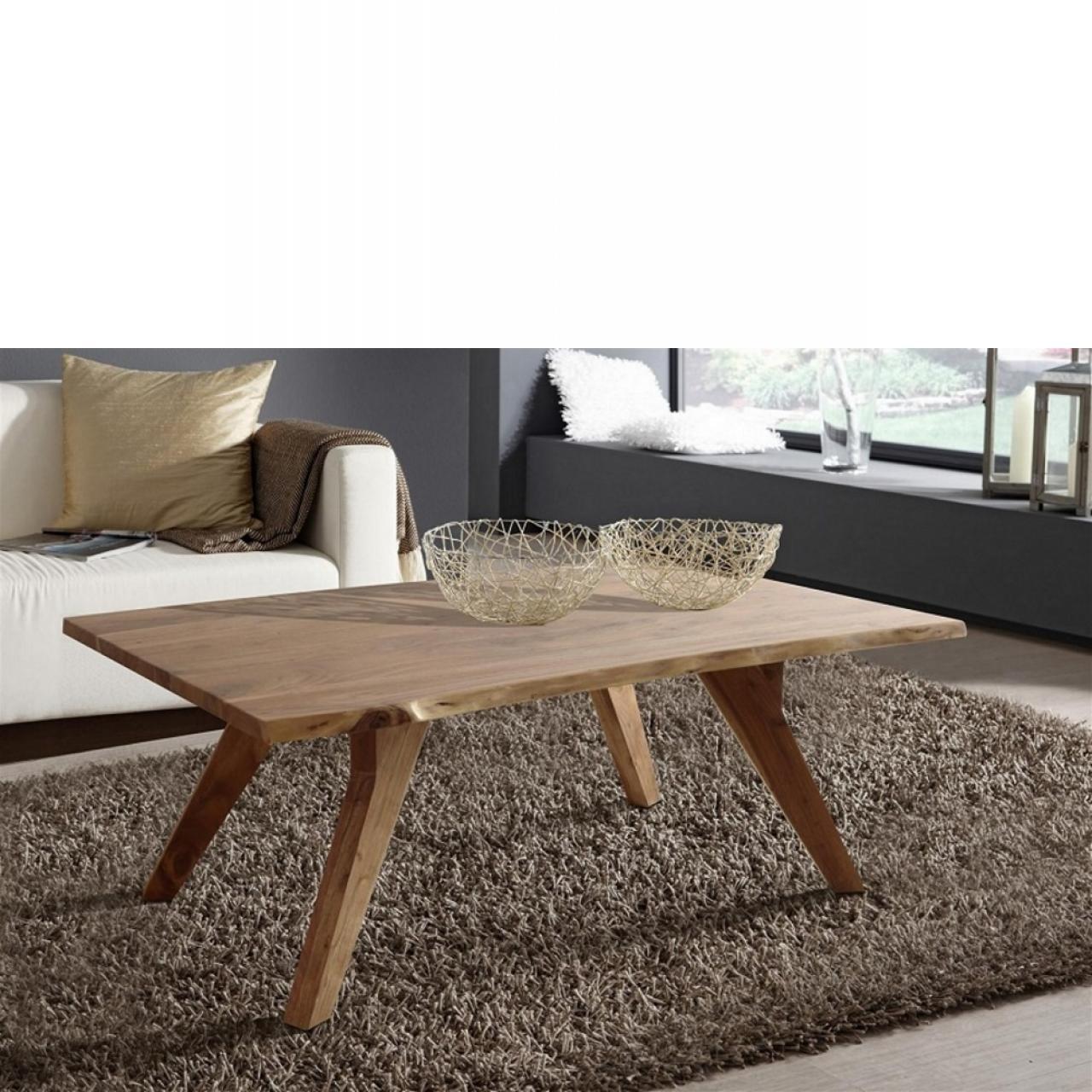 Couchtisch Live Edge Wolf Möbel Stubentisch Holztisch 120x80 cm Wohnzimmertisch