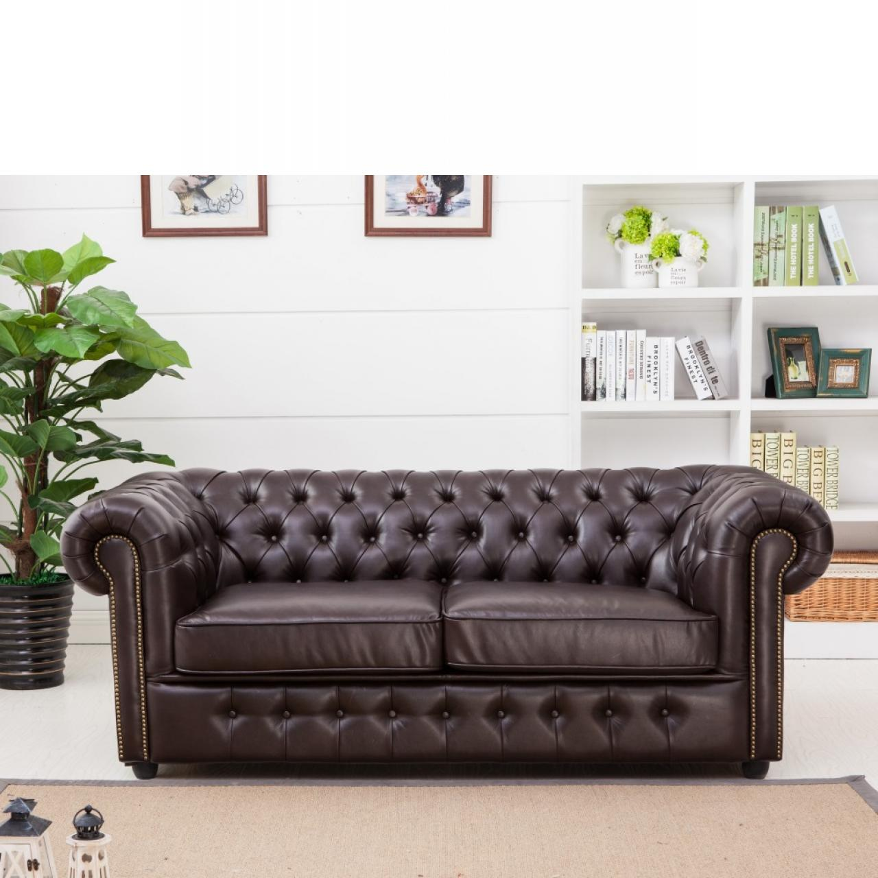 3-Sitzer Chesterfield Sofa