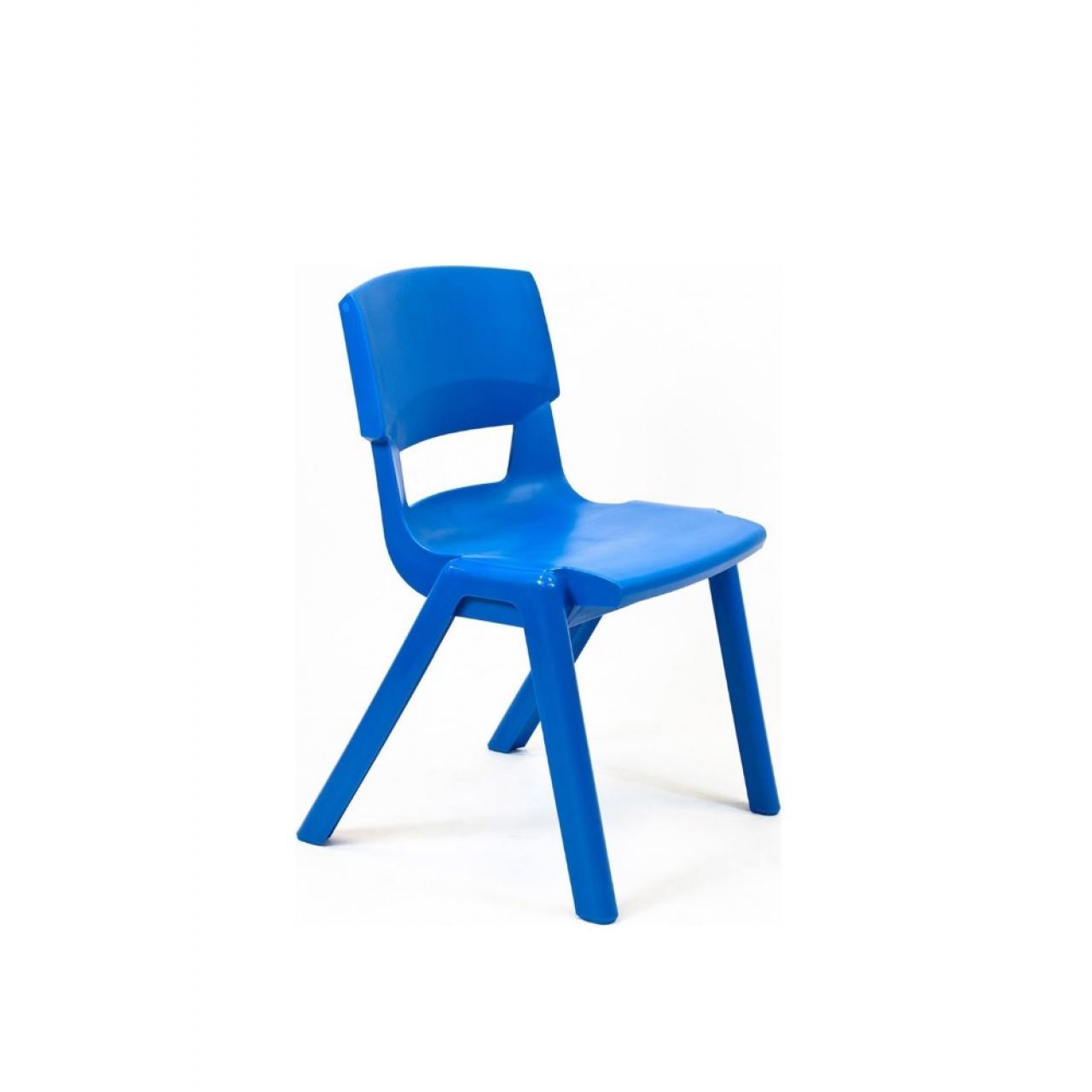 Stapelstuhl Postura blau robust pflegeleicht Kunststoff In- & Outdoor 20 Jahre Garantie
