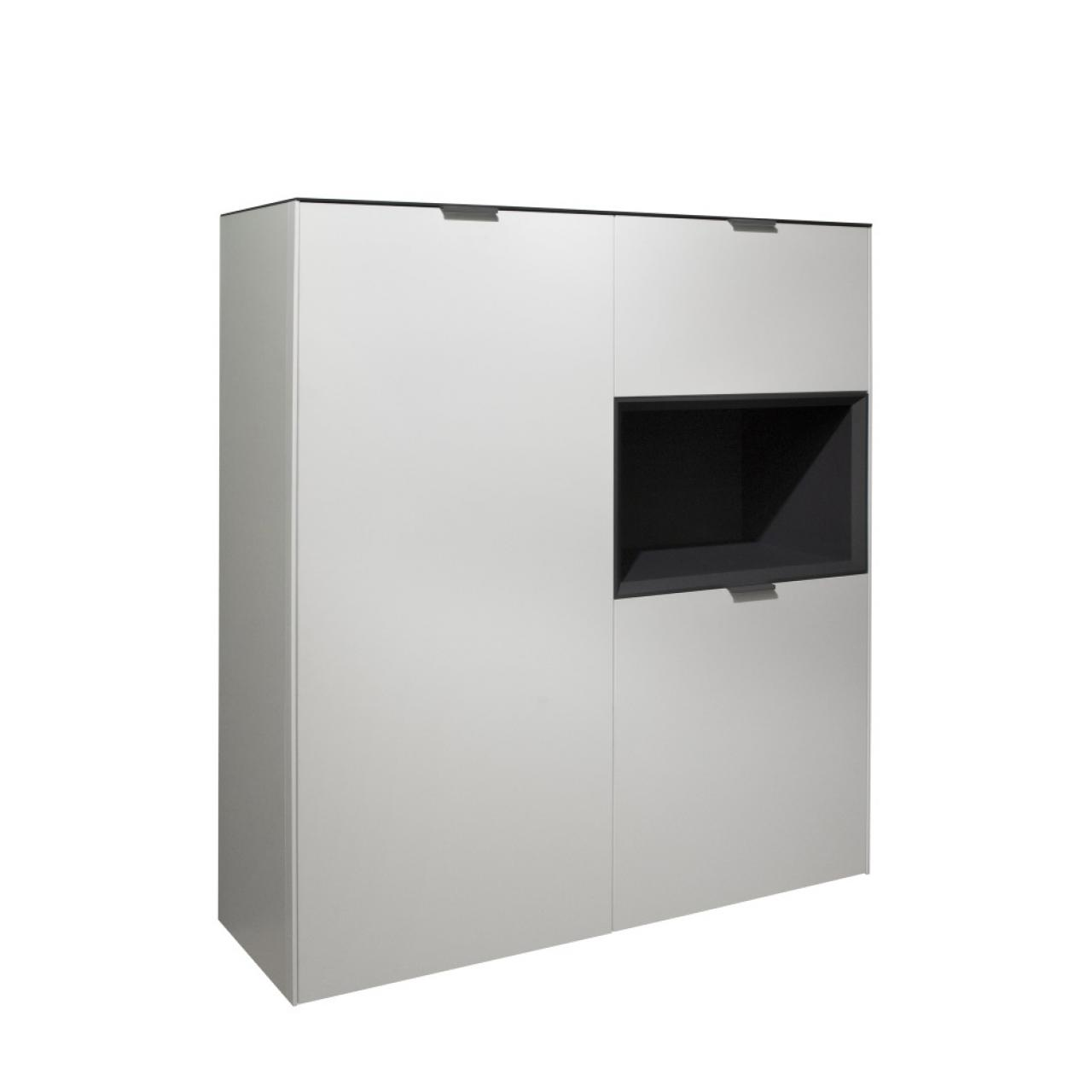 Highboard Micelli Weiss Anthrazit