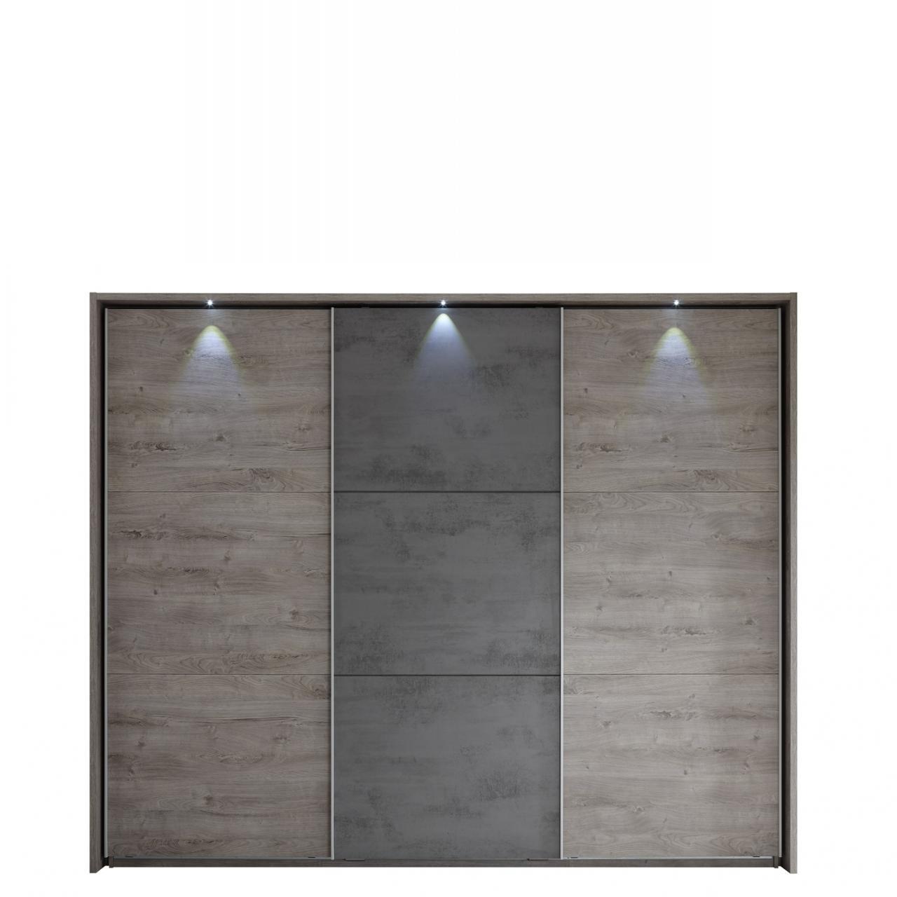 Schwebetürenschrank Palma Kleiderschrank Schlafzimmerschrank 3-türig 270 cm