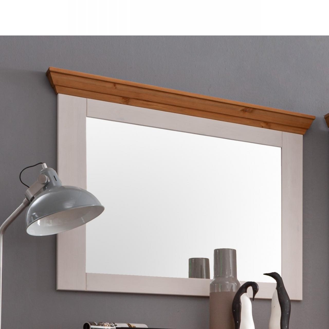 Spiegel WZ-0133 Kiefer massiv Weiß Eiche Wandspiegel Garderobenspiegel Flur