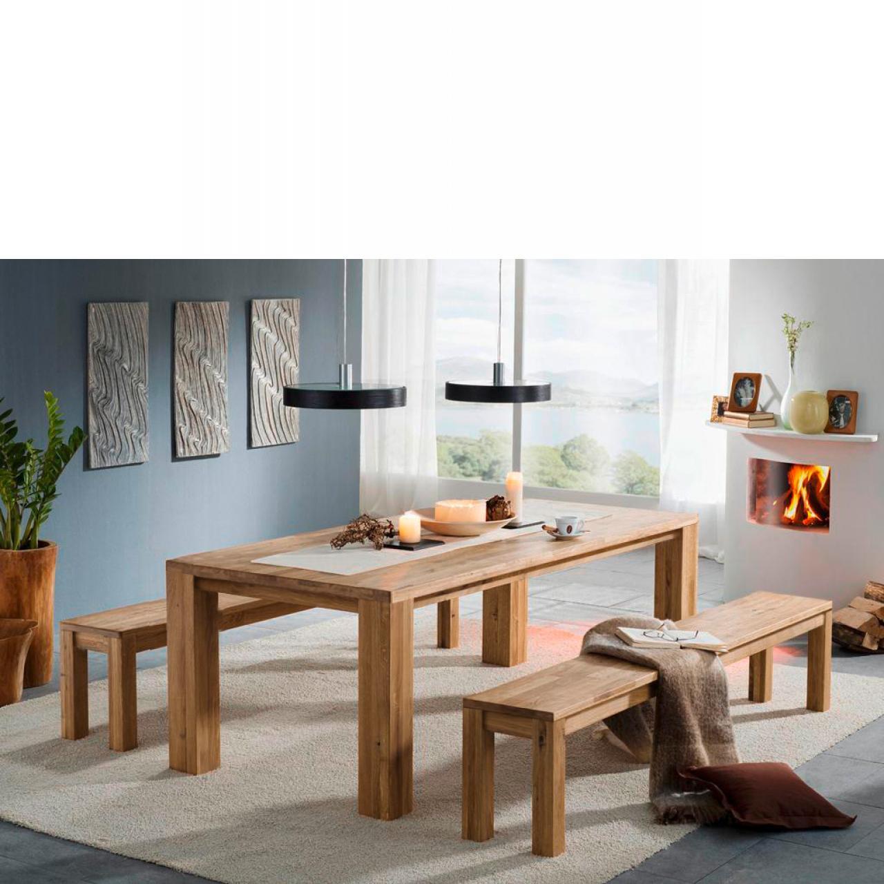 Esstisch TI-0527 Wildeiche massiv 200x100 cm Esszimmertisch Küchentisch