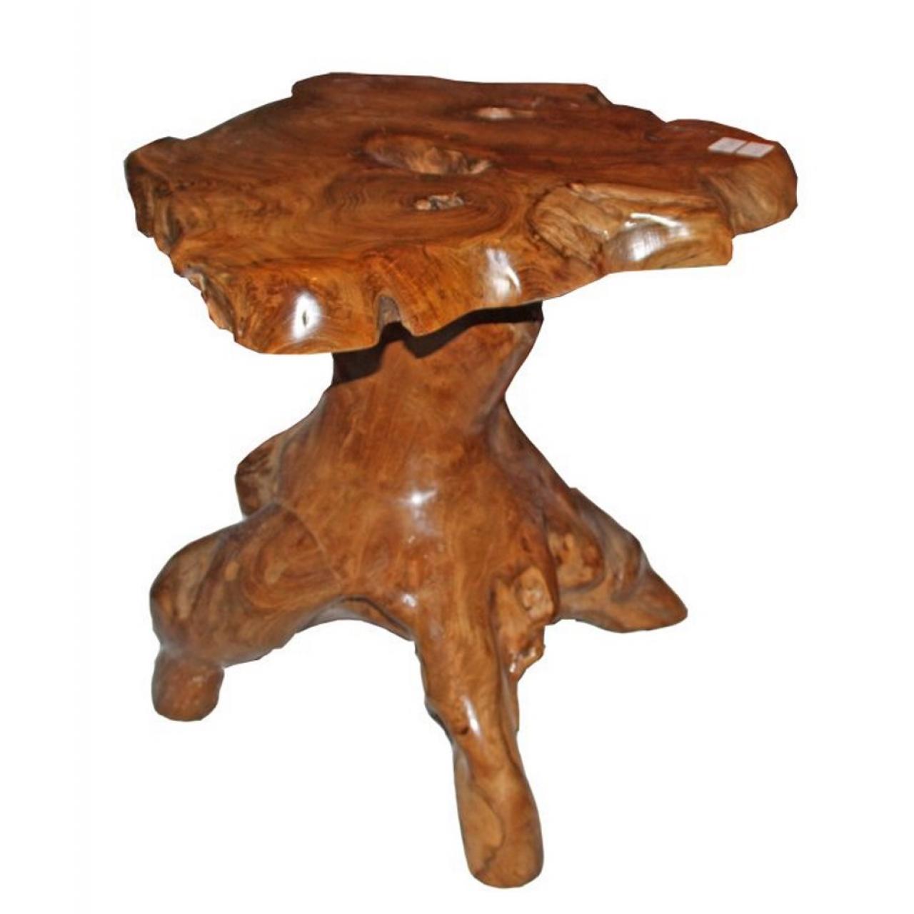 Bartisch W055 Teakwurzel Natur Bar Tisch Beistelltisch Küchentisch Esstisch