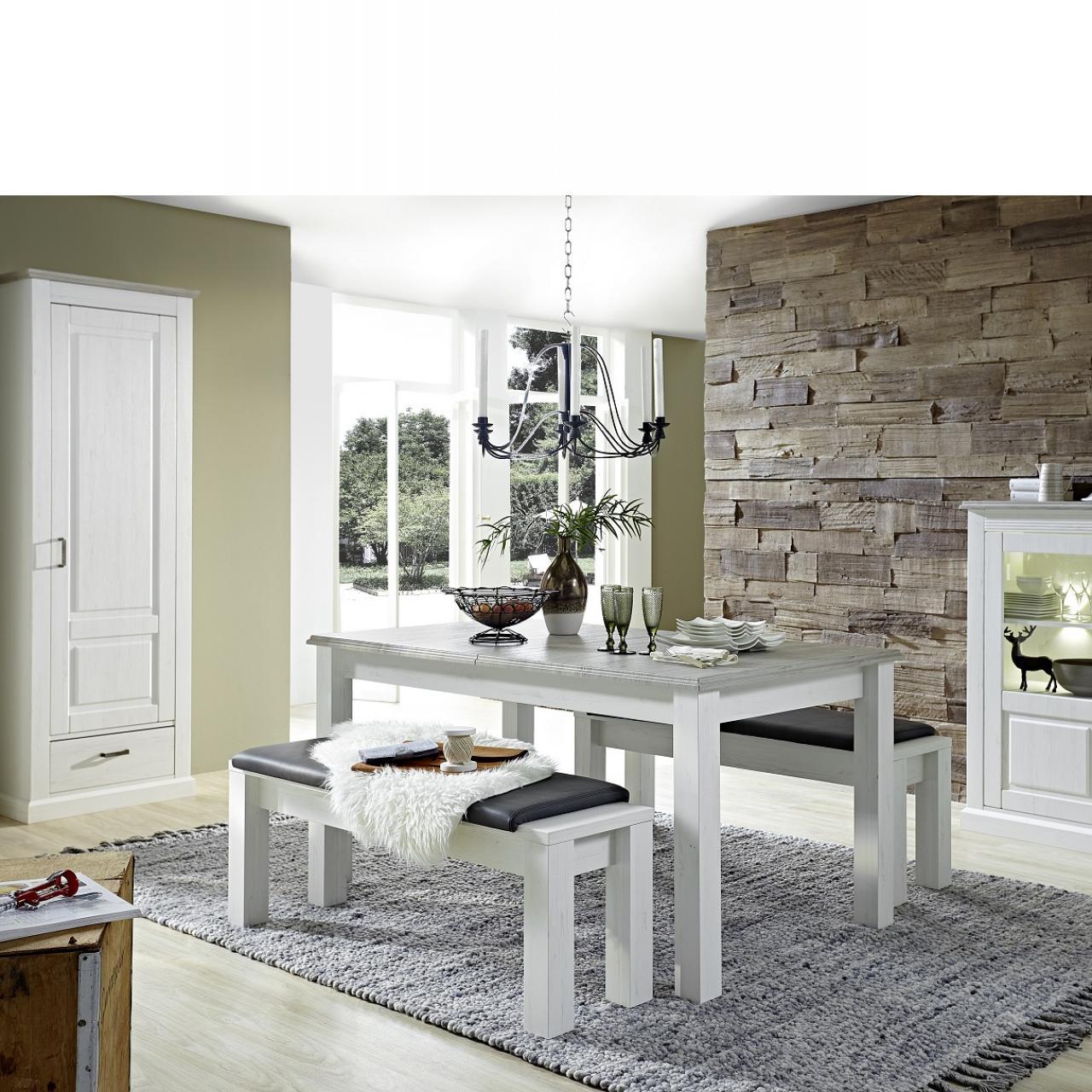 Esstisch Lima Taupe Pinie Hell Nb. Ausziehbar 2 Einlegeplatten Küchentisch Tisch