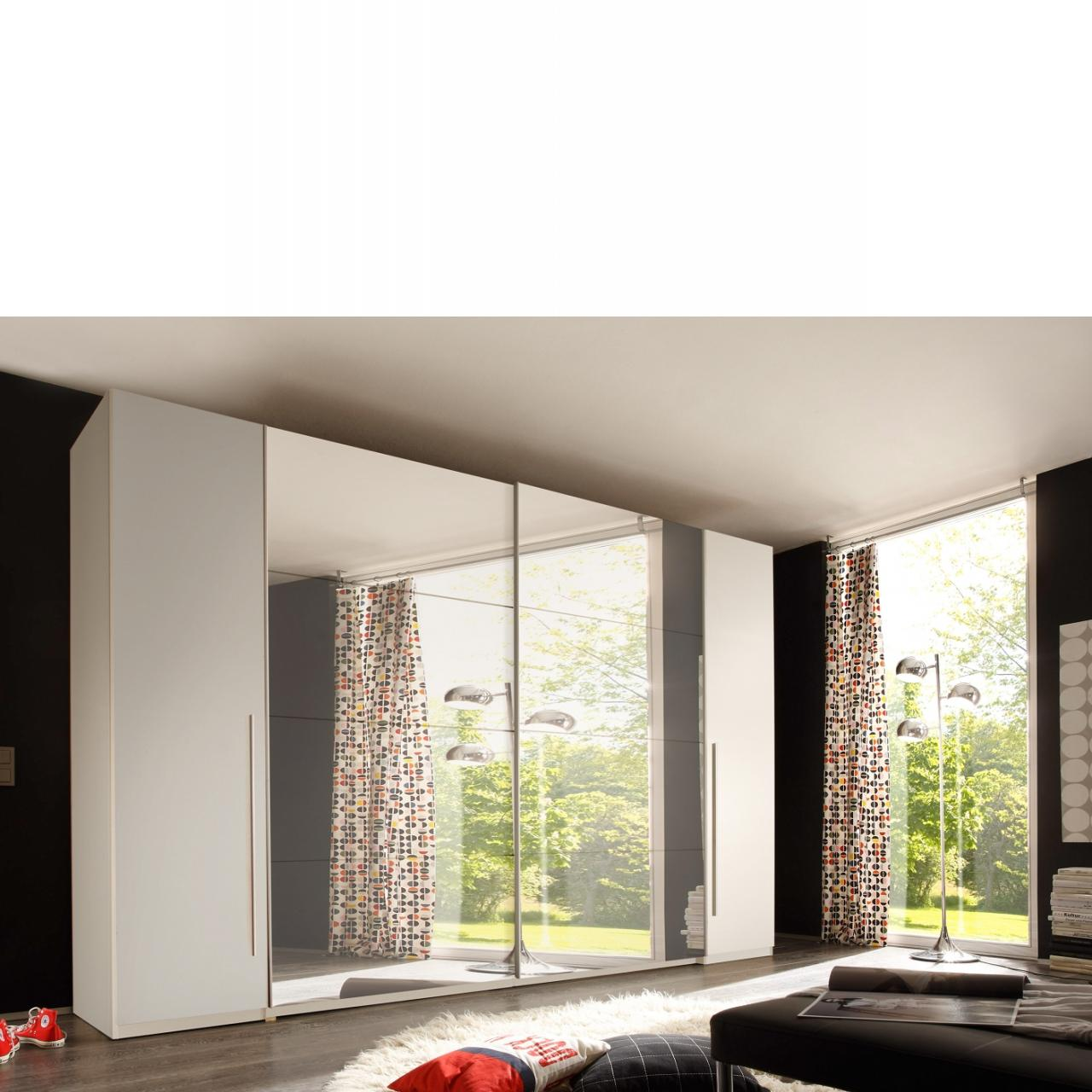 Kleiderschrank Match 2 Schwebetürenschrank Mit Spiegel Weiß Schlafzimmerschrank