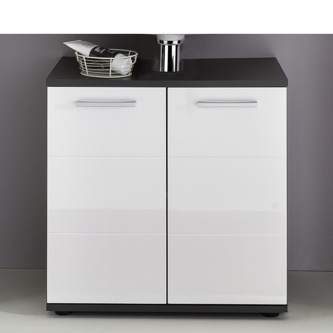 Waschbeckenunterschrank Smart- Weiss/Grau