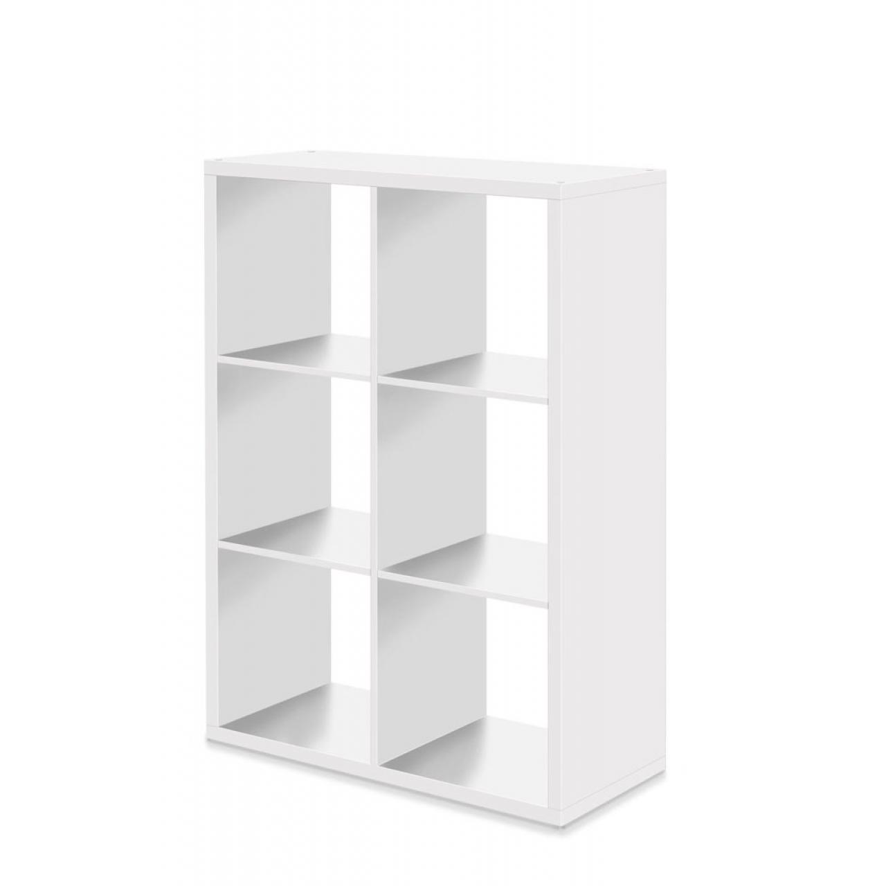 Regal Max in weiß mit 6 offenen Fächer