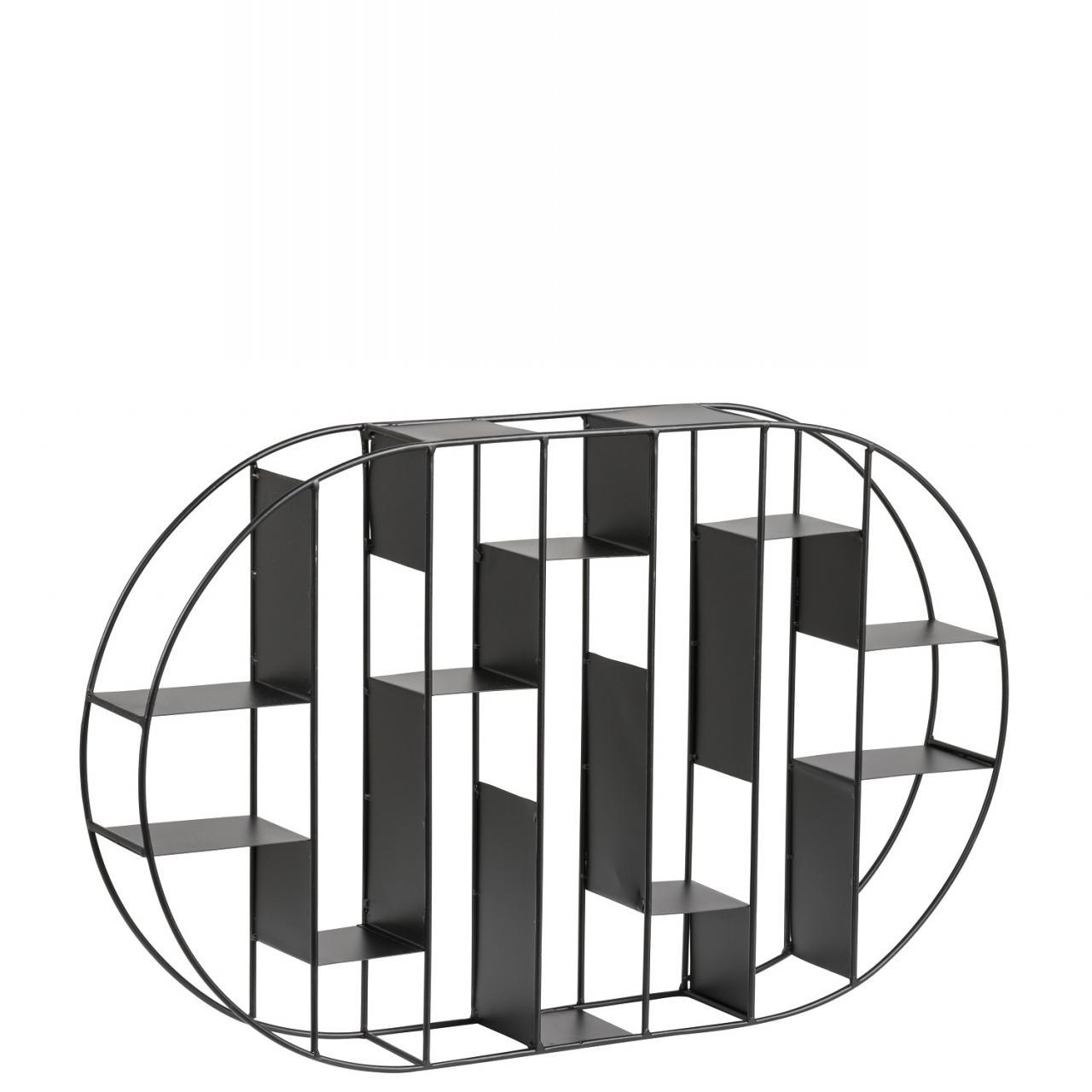 Garnet Regal Böden Metall pulverbeschichtet, schwarz L:64 B:9 H:40 cm