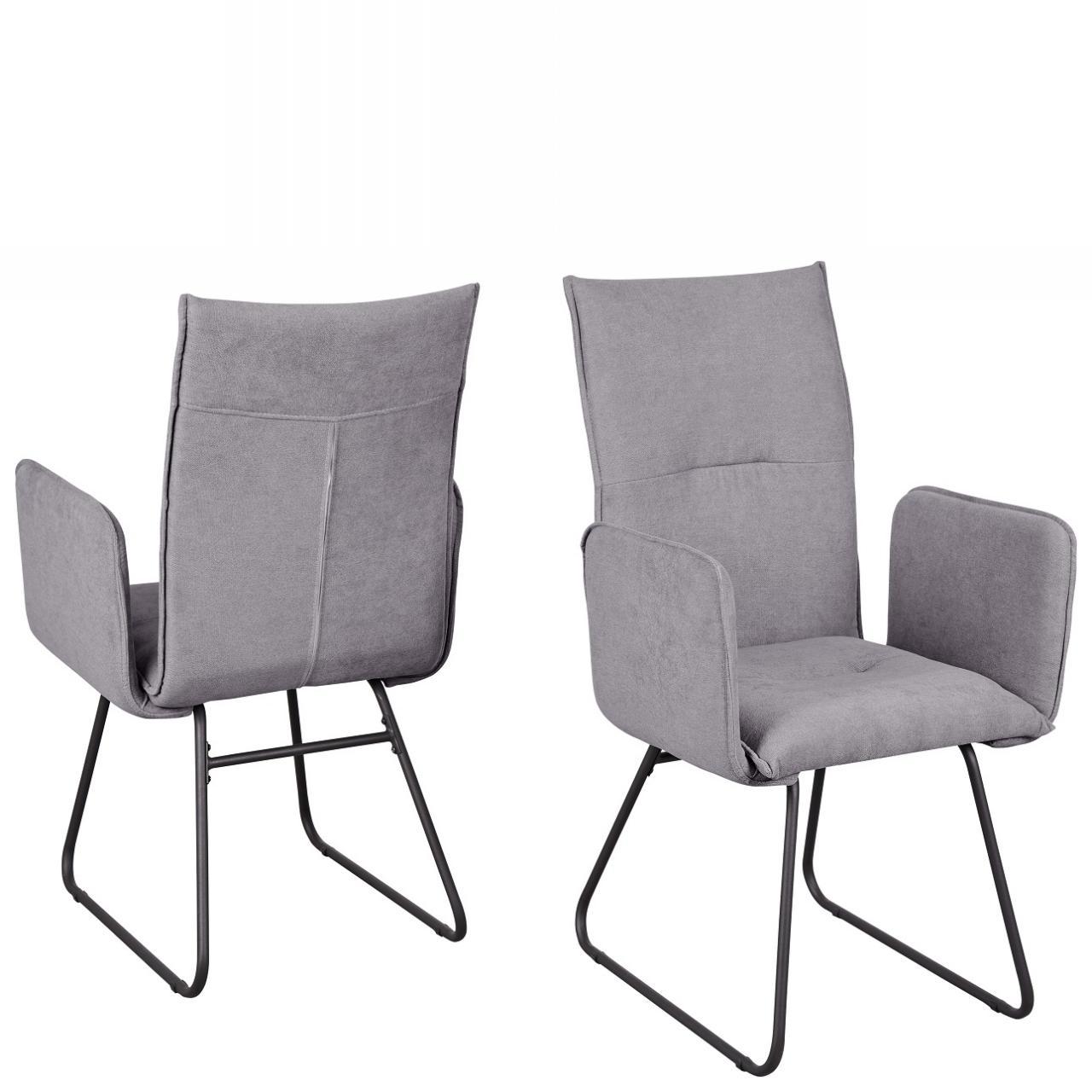 Stuhl Arona 5015-03 Esszimmerstuhl Armlehnstuhl Stoff Metall Küchenstuhl