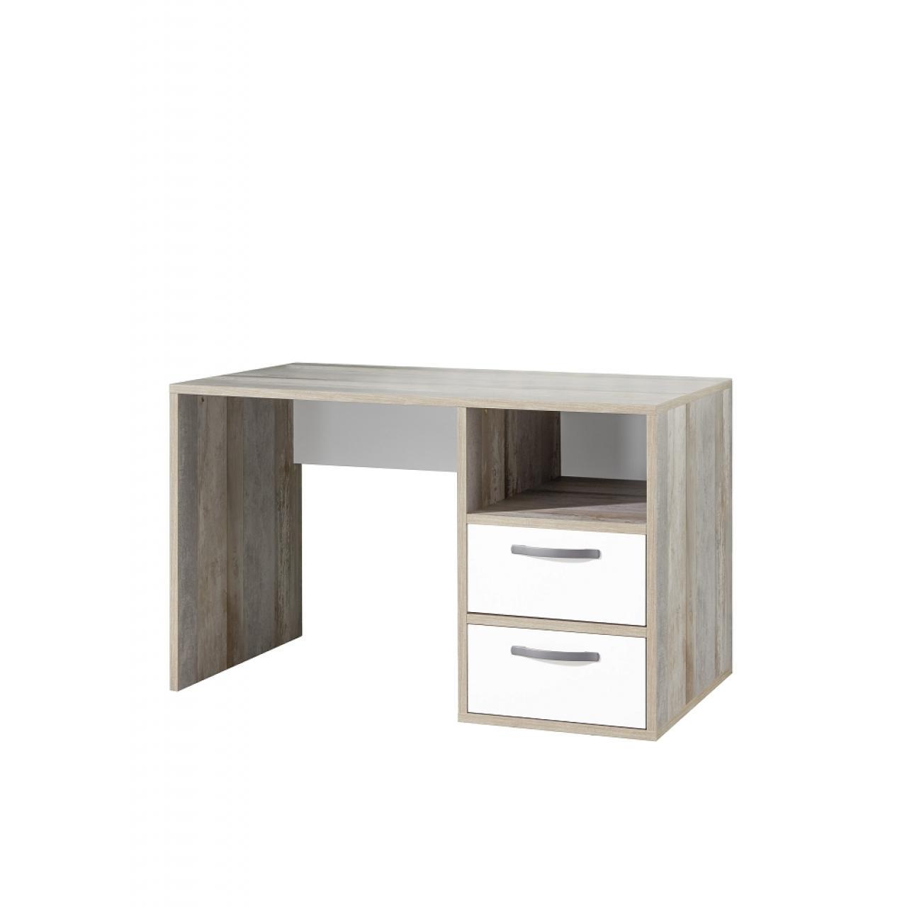 Schreibtisch Moon - Driftwood/Weiss