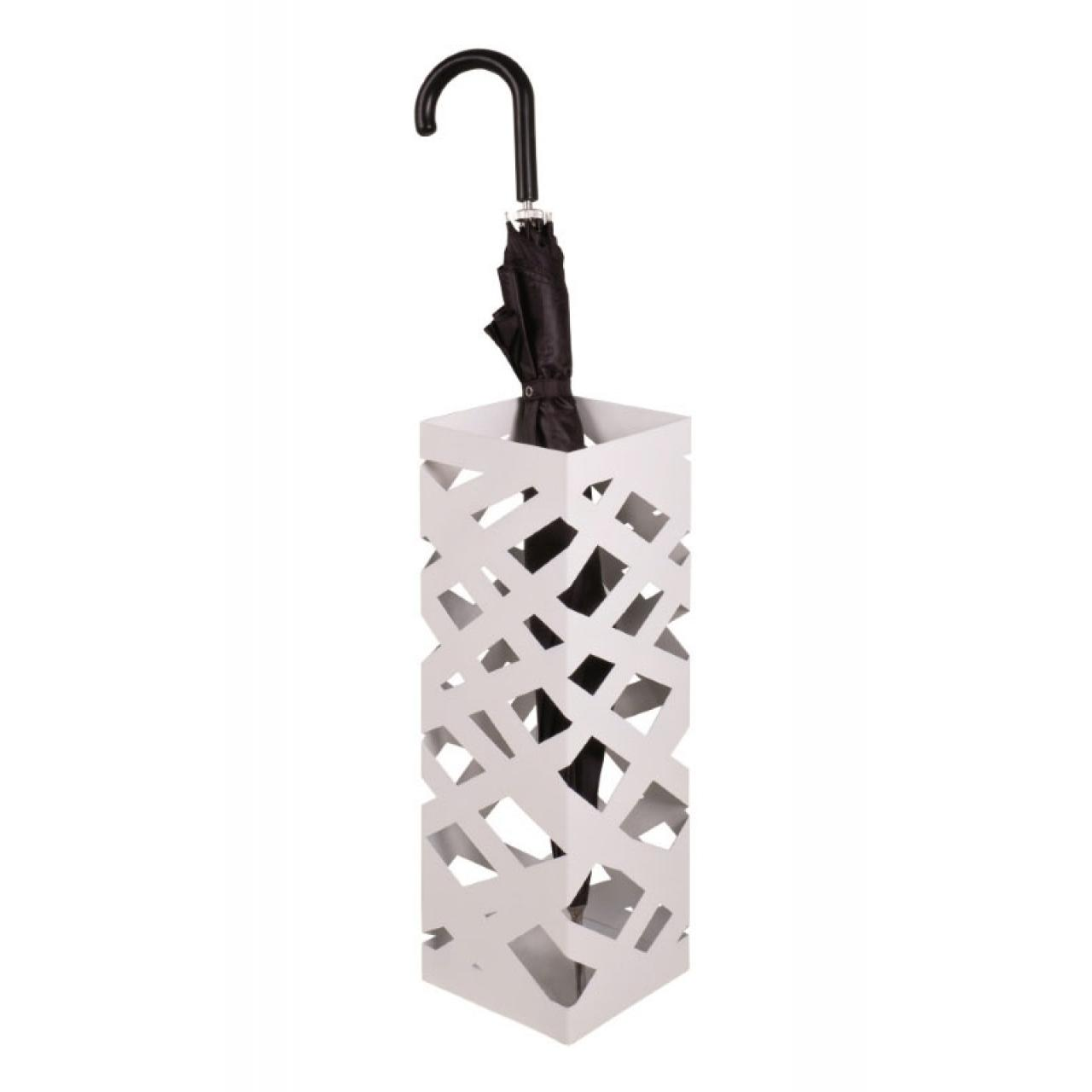Schirmständer Pop 3 - Metall - weiß