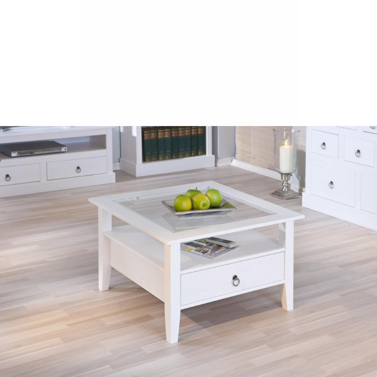 Couchtisch Provence - Weiß lackiert