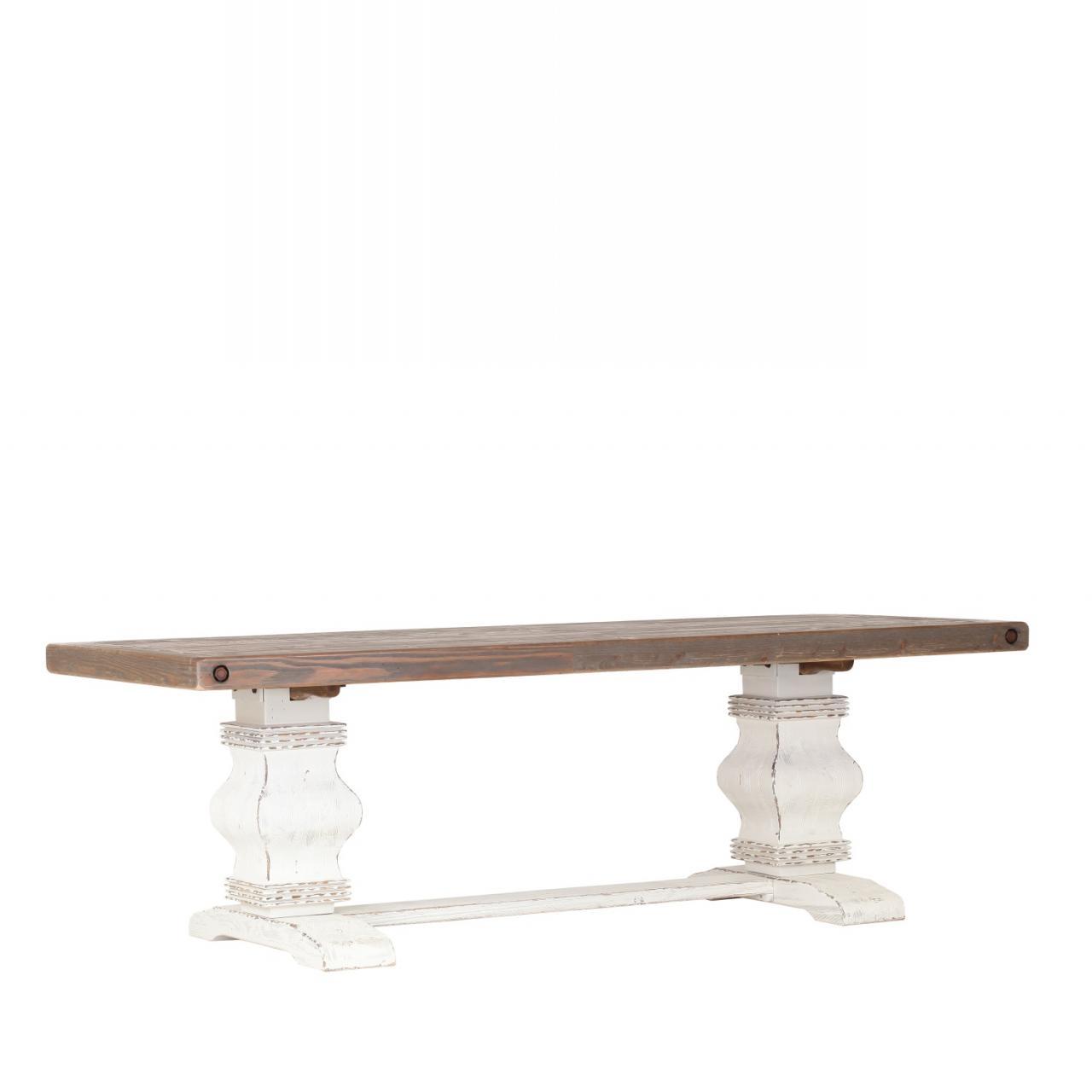 Esstisch Riviera 6397/21-240 Recycled Pinie Massiv Braun 240x100 Weiß Tisch