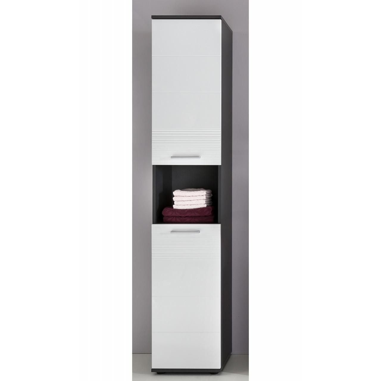 Badschrank Smart - Weiss/Grau