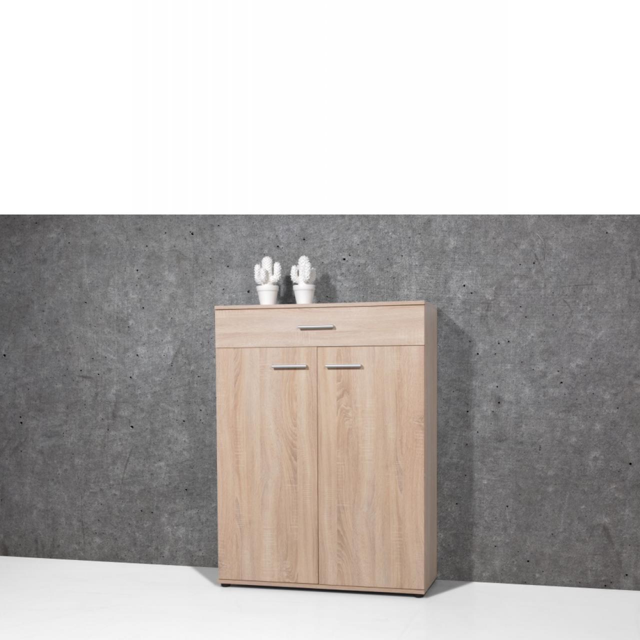 Schuhschrank, Schrank, Garderobenschrank, Wandschrank, Sonoma Eiche, 89x120 cm