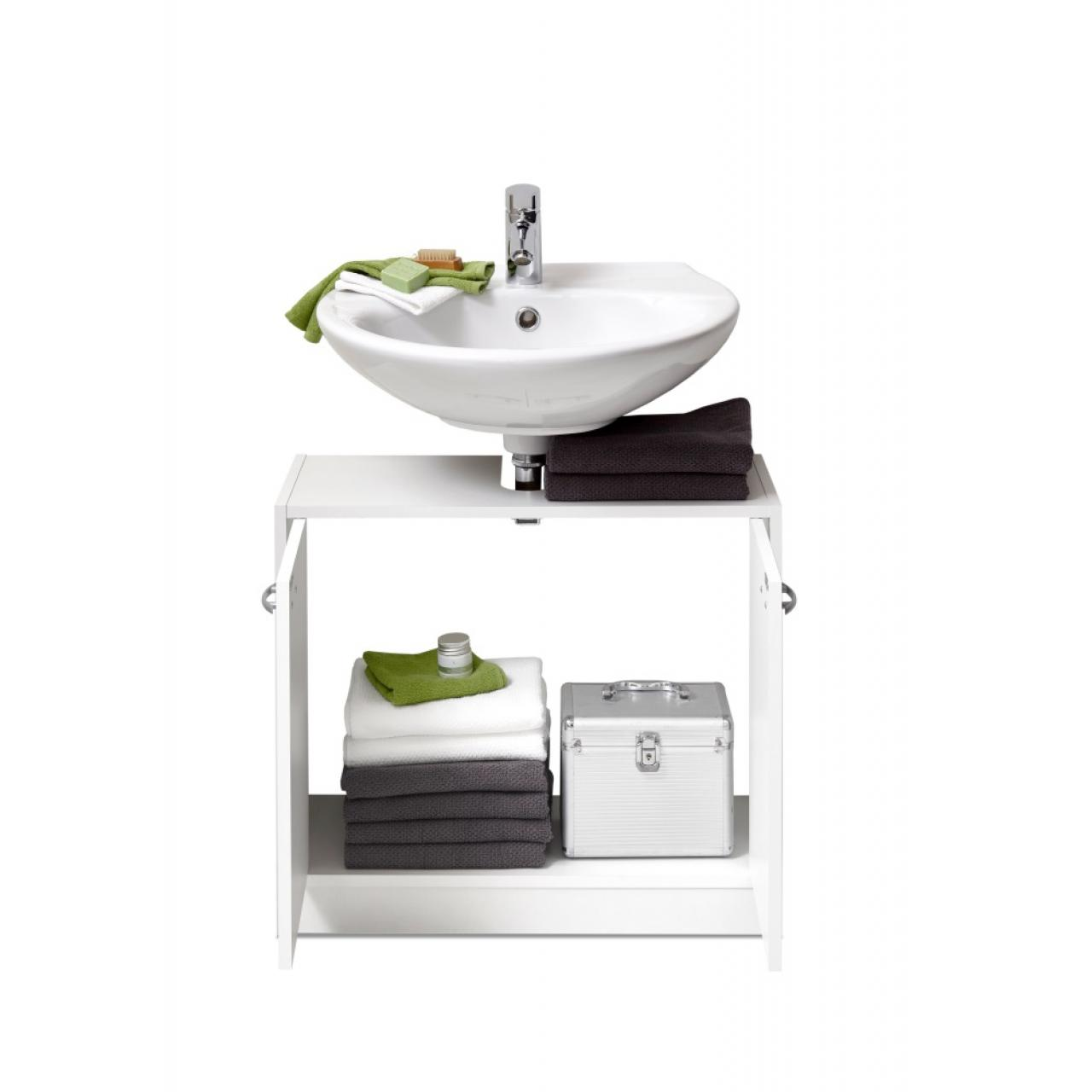 Waschbeckenunterschrank Marbella Badmöbel weiß